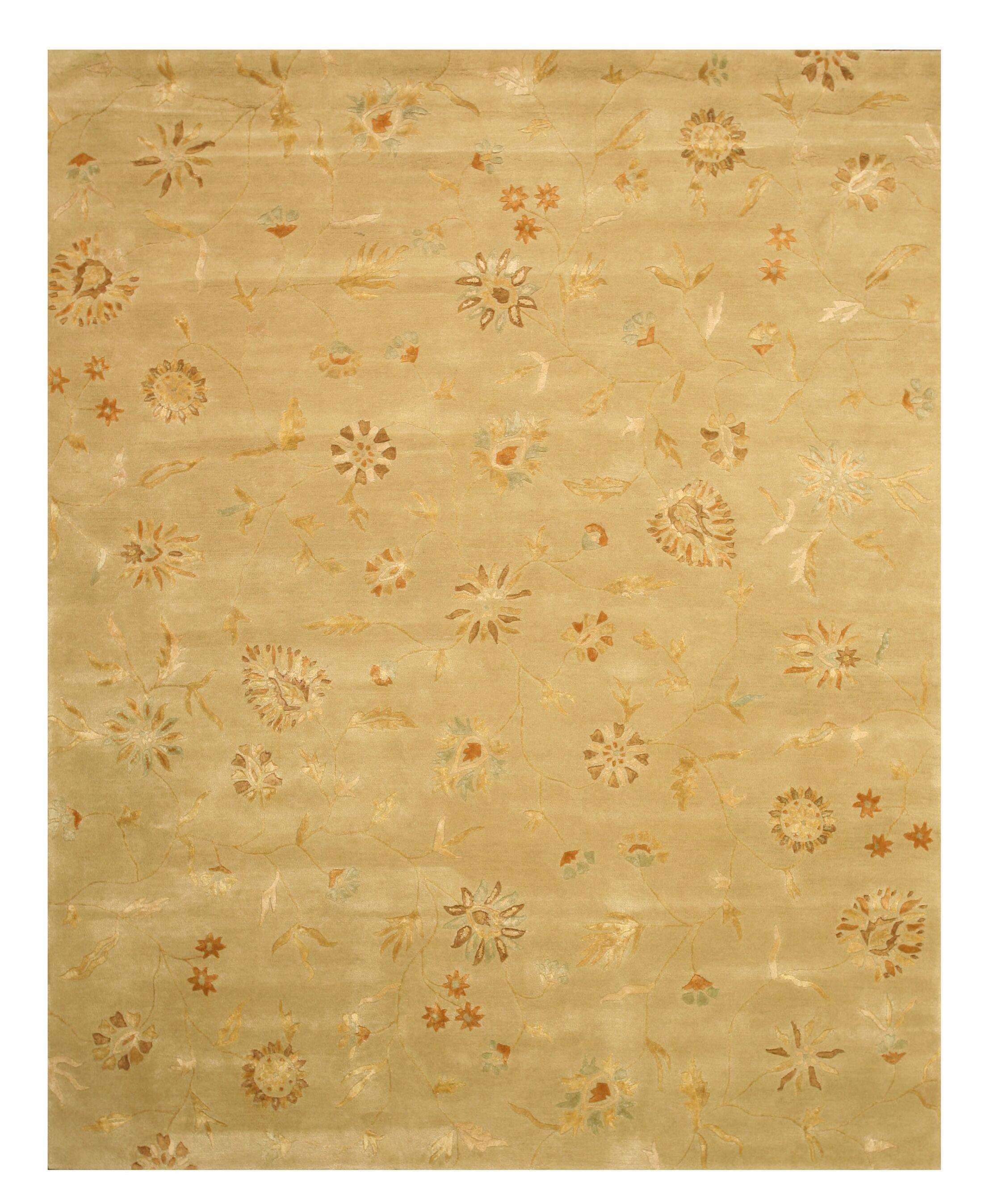 Macksburg Hand-Tufted Gold Area Rug Rug Size: Rectangle 4' x 6'