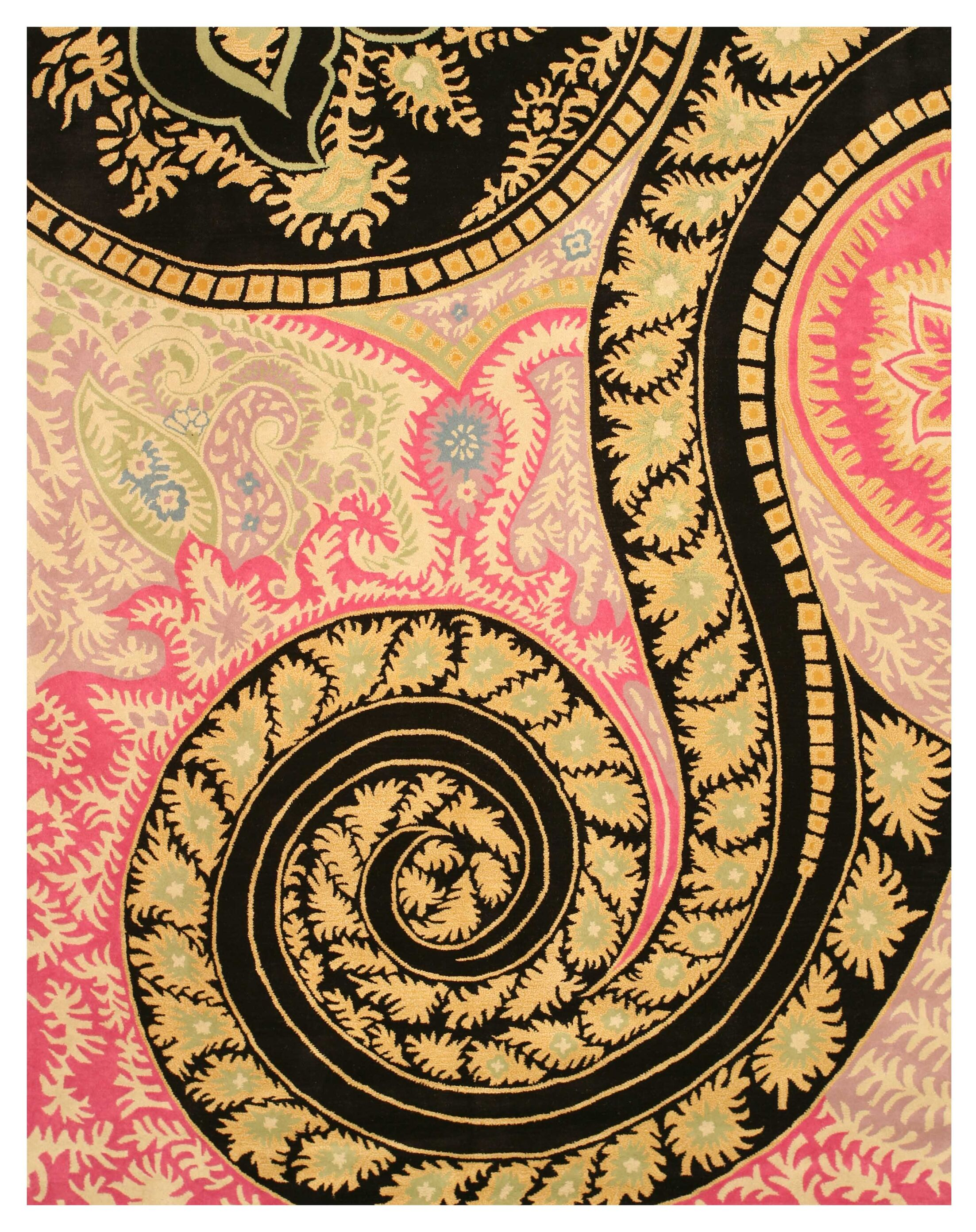 Malone Black/Pink Area Rug Rug Size: Rectangle 8'9
