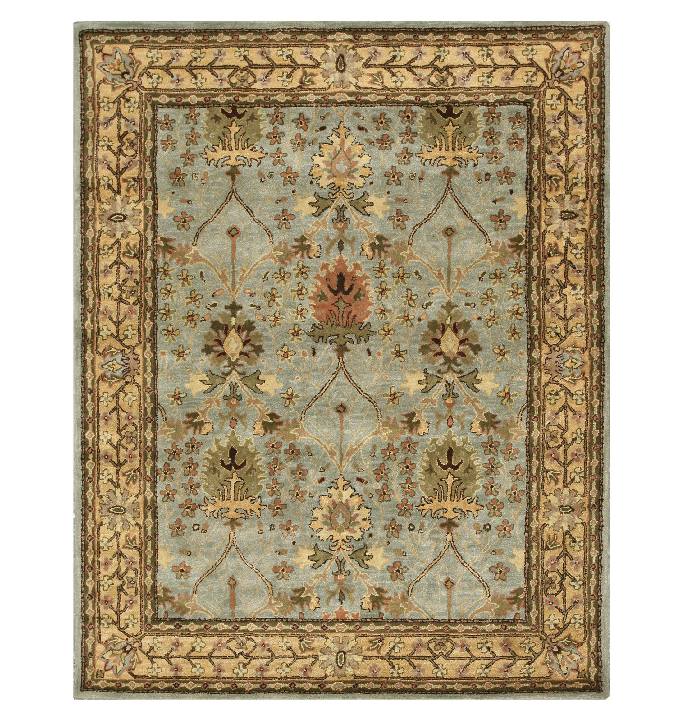 Marcola Hand-Tufted Blue Area Rug Rug Size: Rectangle 7'9