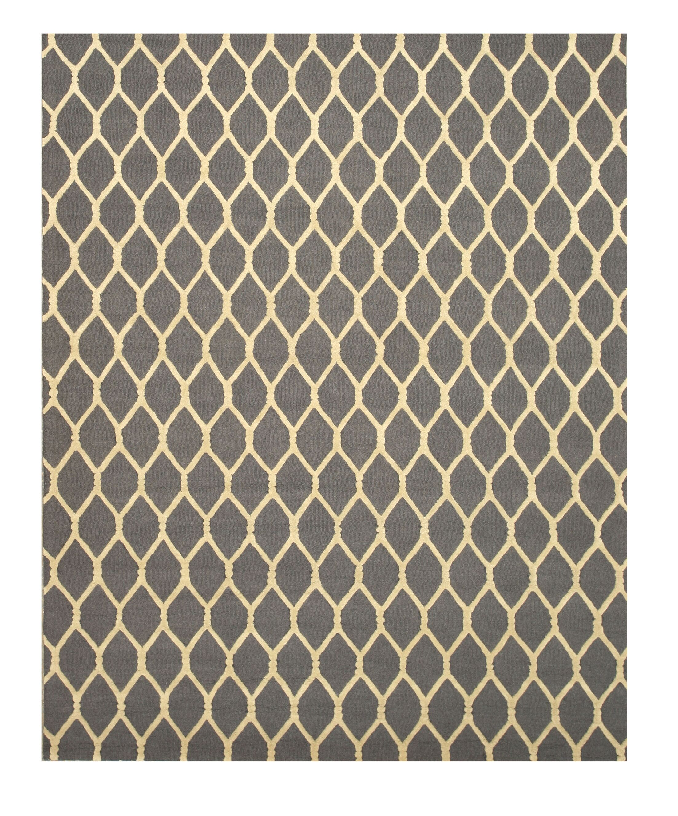 Hand-Tufted Charcoal Area Rug Rug Size: Rectangle 8'9