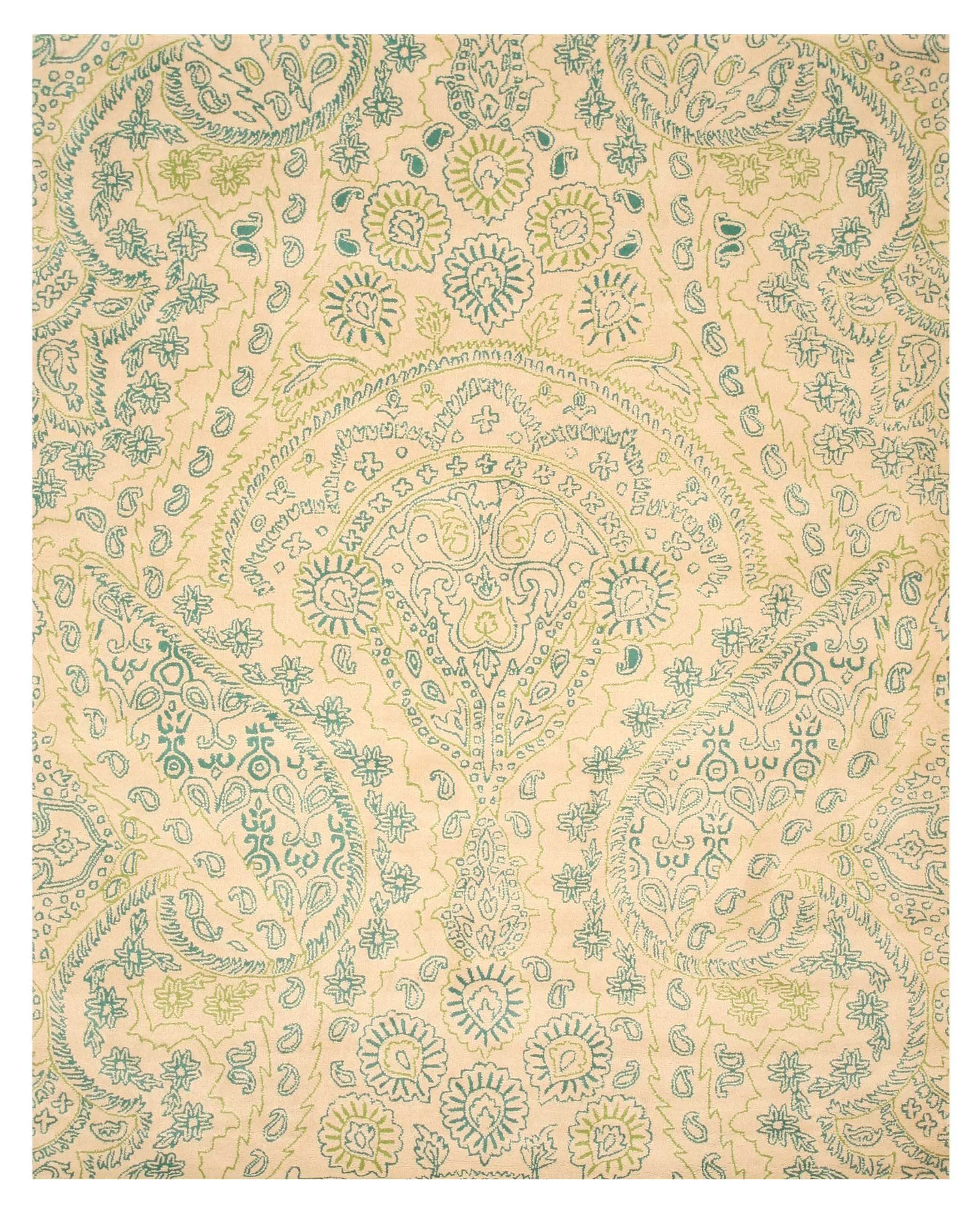 Hand-Tufted Ivory Area Rug1 Rug Size: 5' x 8'