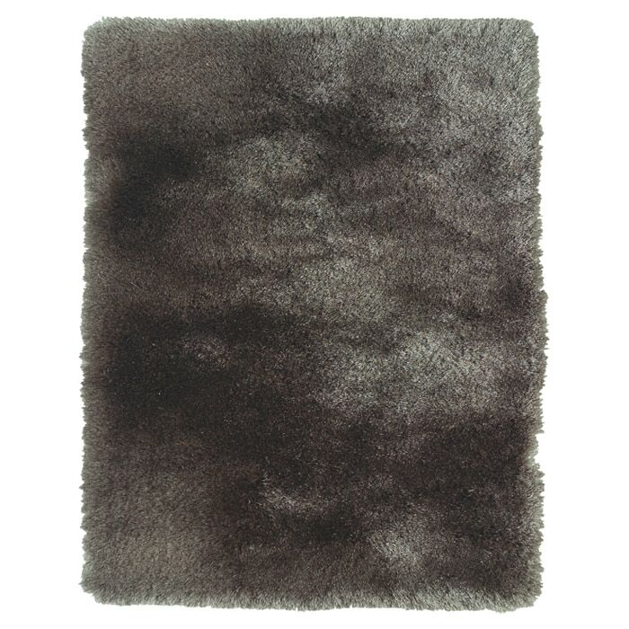 Hand-Tufted Gray Area Rug Rug Size: Rectangle 4'9