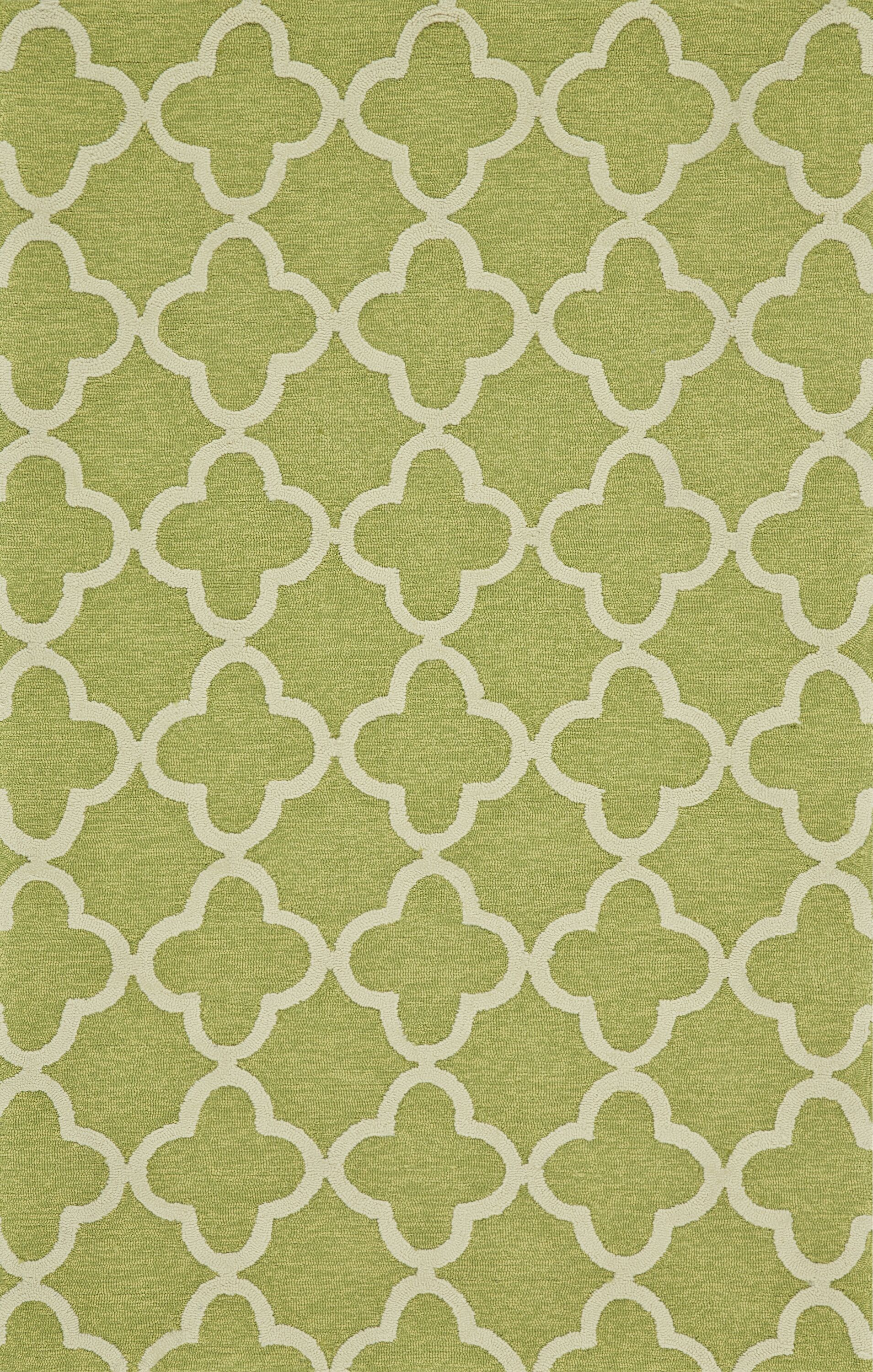 Hand-Tufted Green Outdoor Area Rug Rug Size: Rectangle 2' x 3'