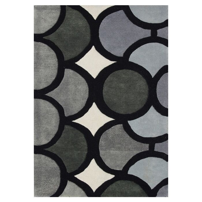 Hand-Tufted Gray Area Rug Rug Size: Rectangle 4' x 6'