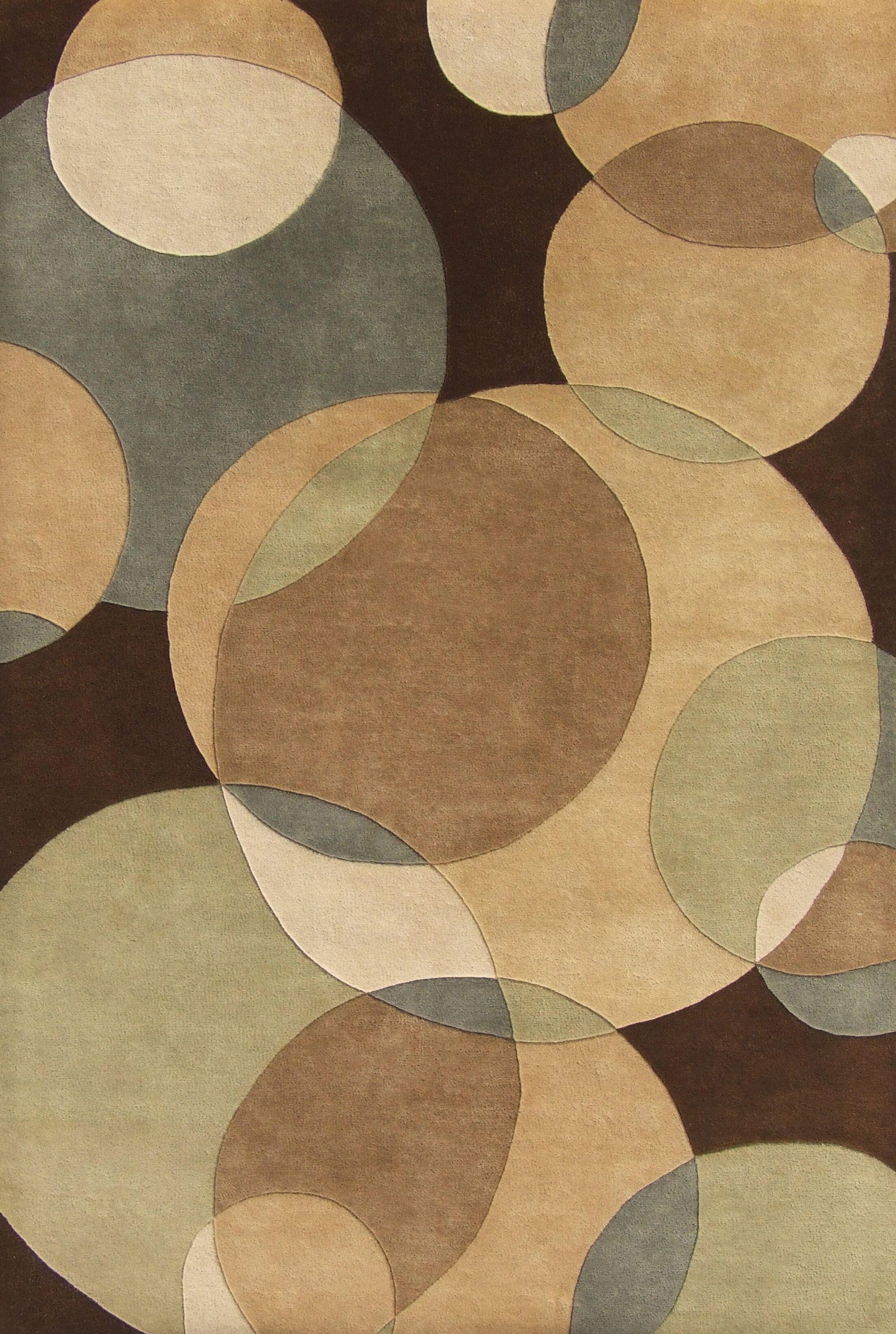Hand-Tufted Brown Area Rug Rug Size: Rectangle 5' x 8'