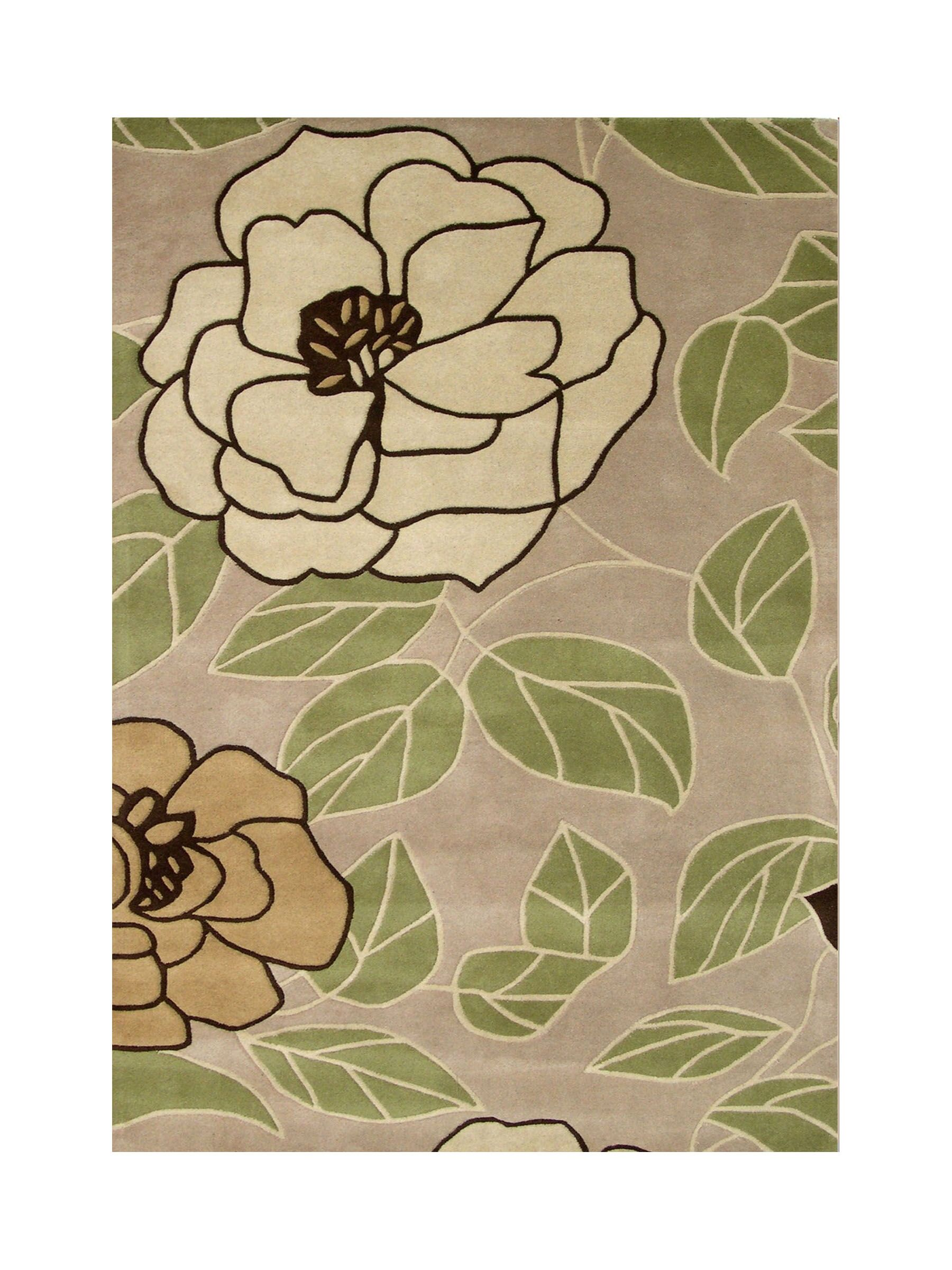 Hand-Tufted Brown Area Rug Rug Size: 8' x 10'