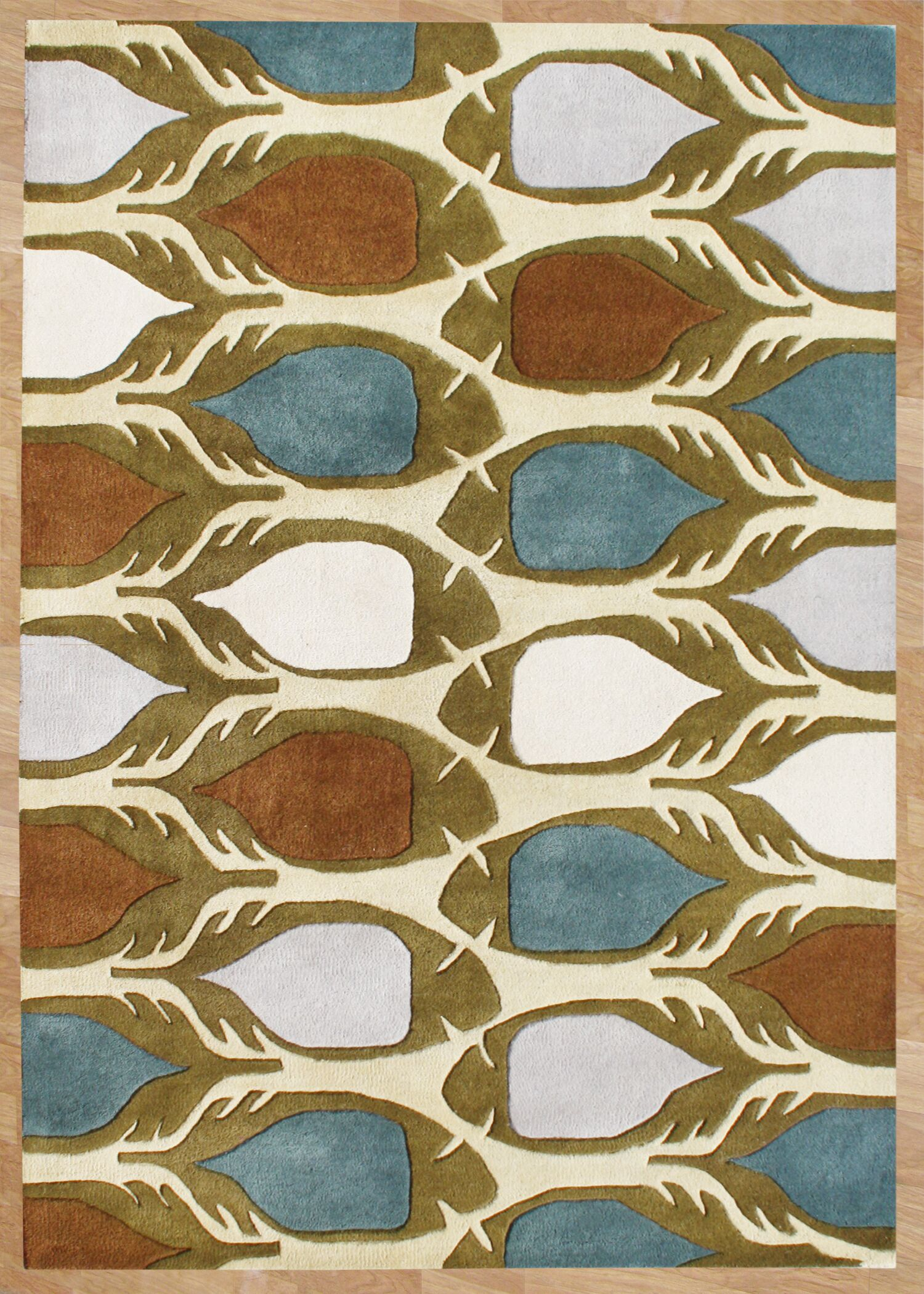 Newberg Hand-Tufted Area Rug Rug Size: 8' x 10'