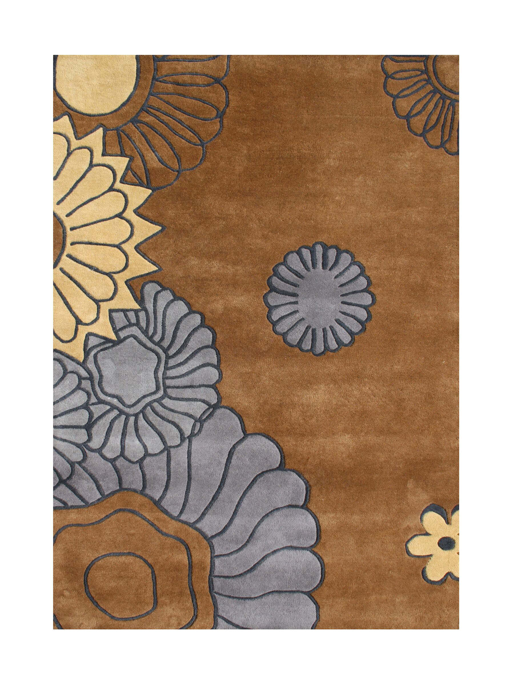 Owyhee Hand-Tufted Brown Area Rug Rug Size: 8' x 10'
