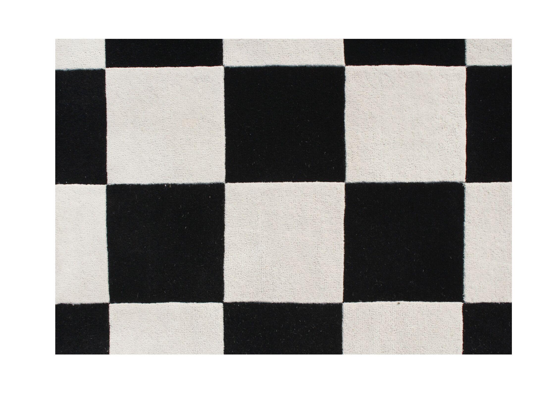 Pocahontas Hand-Tufted White/Black Area Rug