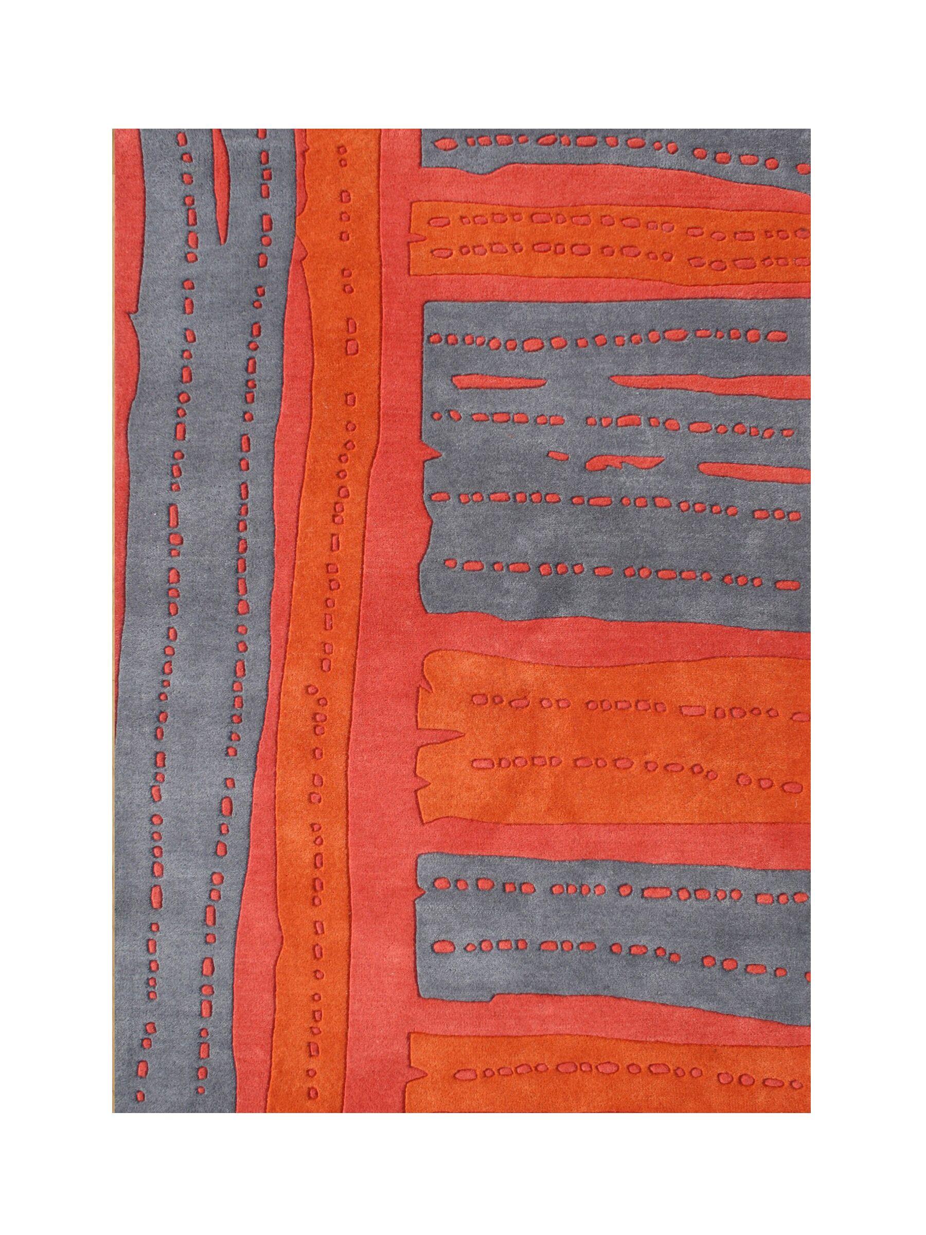 Rockaway Hand-Tufted Red/Gray Area Rug