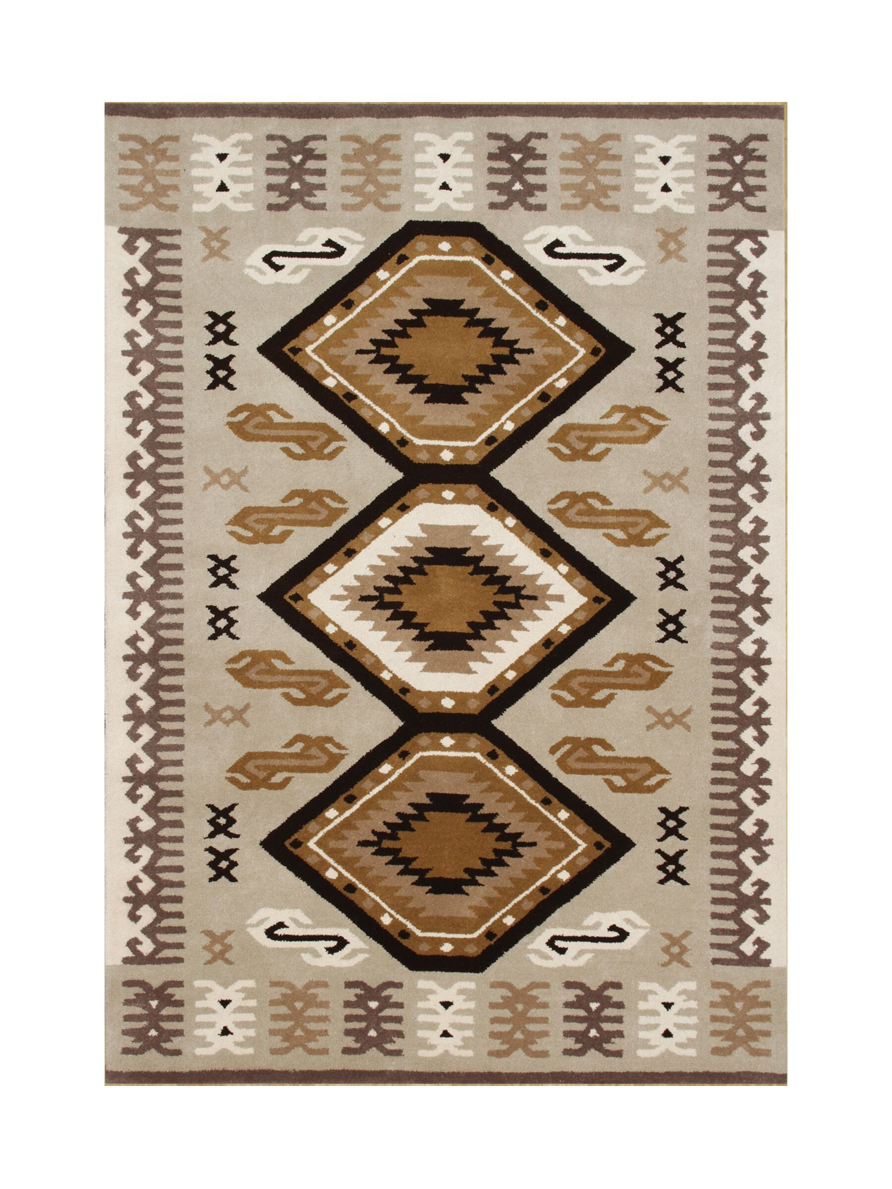 Siltcoos Hand-Tufted Taupe/Brown Area Rug Rug Size: Rectangle 5' x 8'