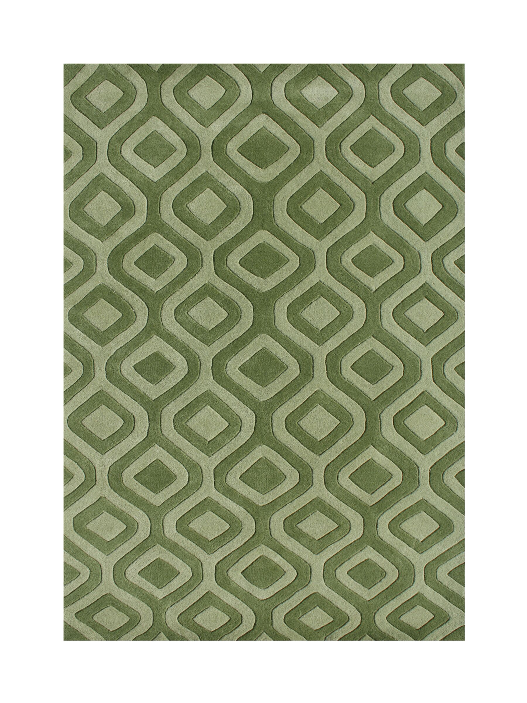 Weatherby Hand-Tufted Green Area Rug Rug Size: Rectangle 9' x 12'
