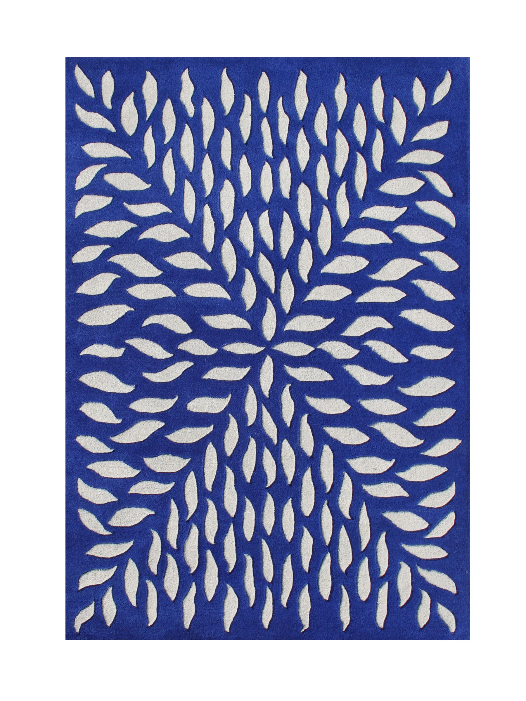 Wedderburn Hand-Tufted Blue Area Rug Rug Size: Rectangle 8' x 10'