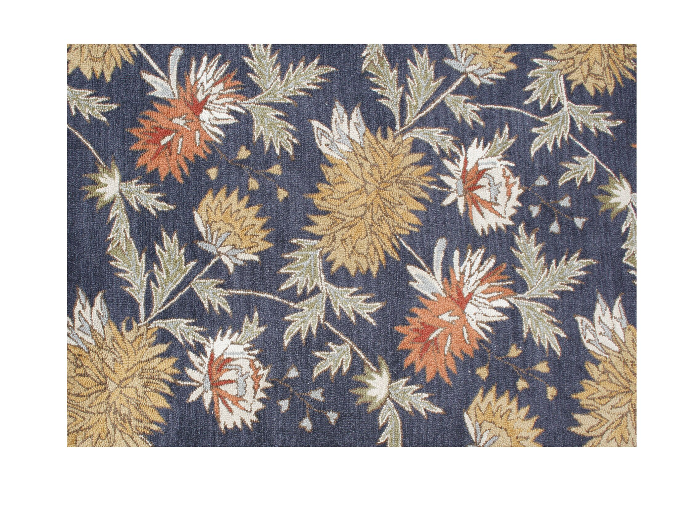 Yamhill Hand-Tufted Orion Blue Area Rug Rug Size: Rectangle 5' x 8'