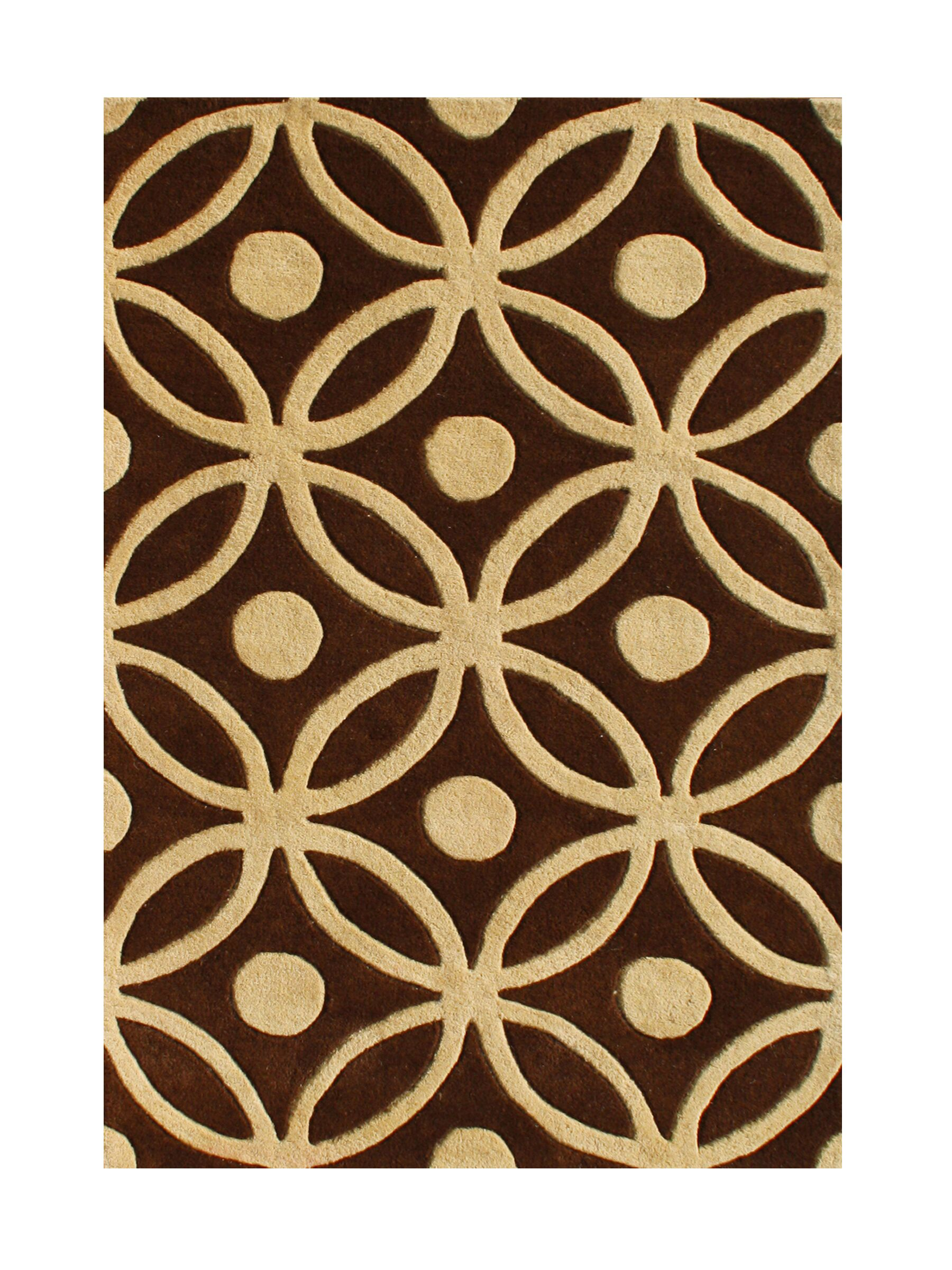 Preston Hand-Tufted Chocolate Brown Area Rug