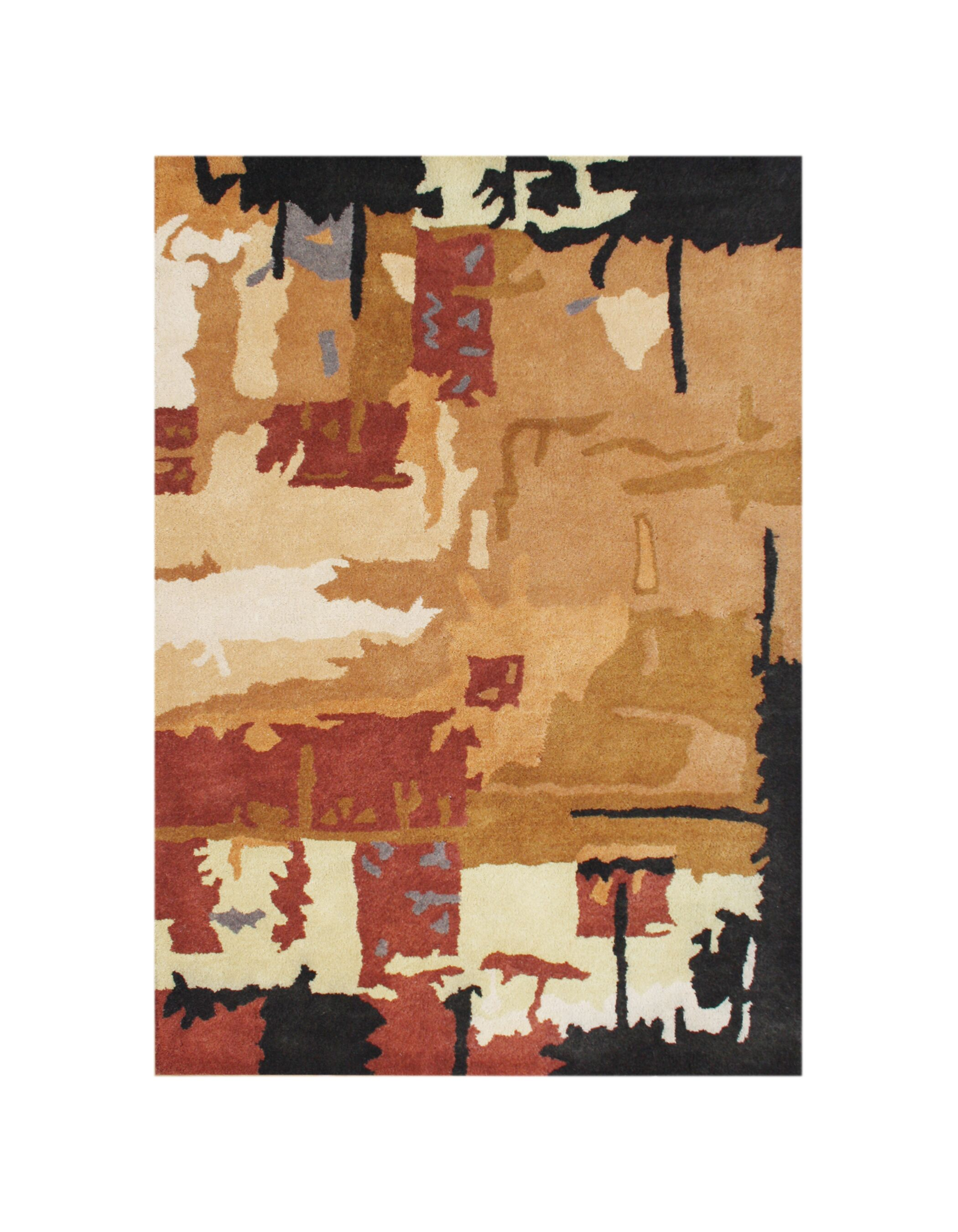 Weiser Hand-Tufted Brown Area Rug