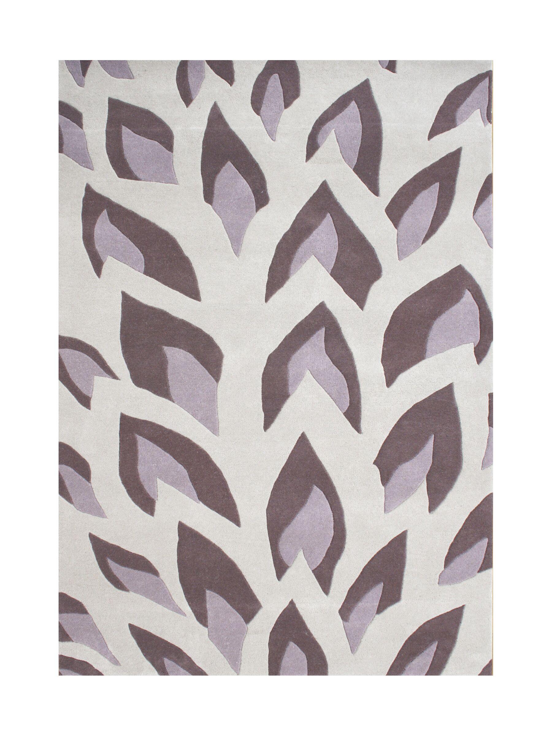 John Hand-Tufted Hushed Violet Area Rug Rug Size: Rectangle 5' x 8'