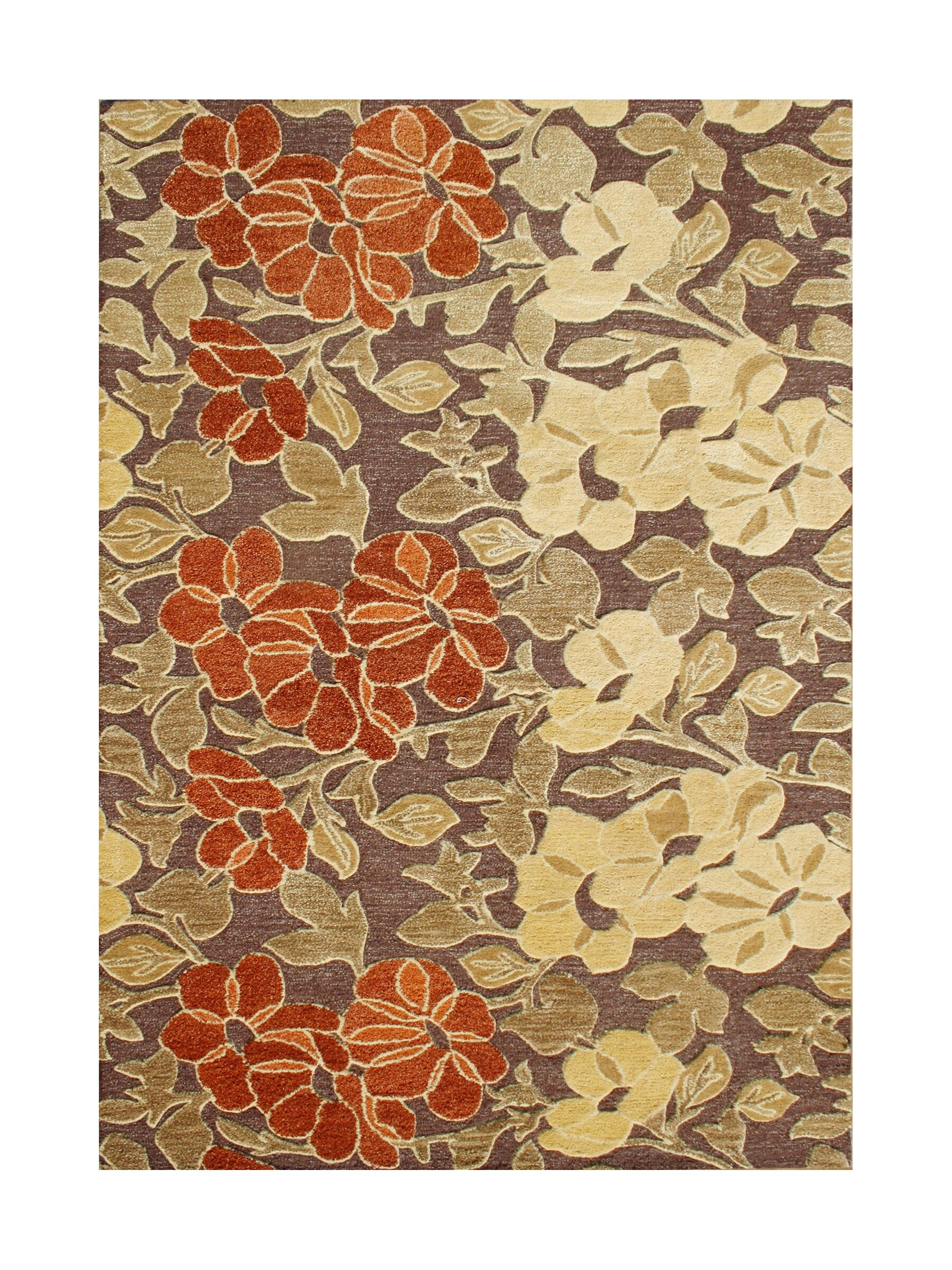 Hernan Hand-Tufted Tobacco Brown Area Rug Rug Size: 9' x 12'