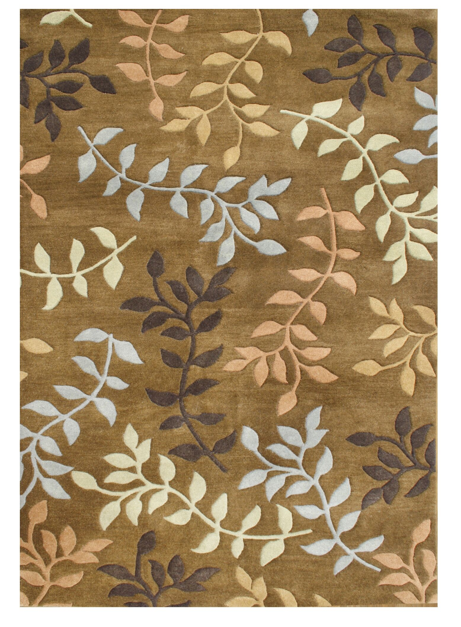 De Aviles Hand-Tufted Brown Area Rug Rug Size: 8' x 10'