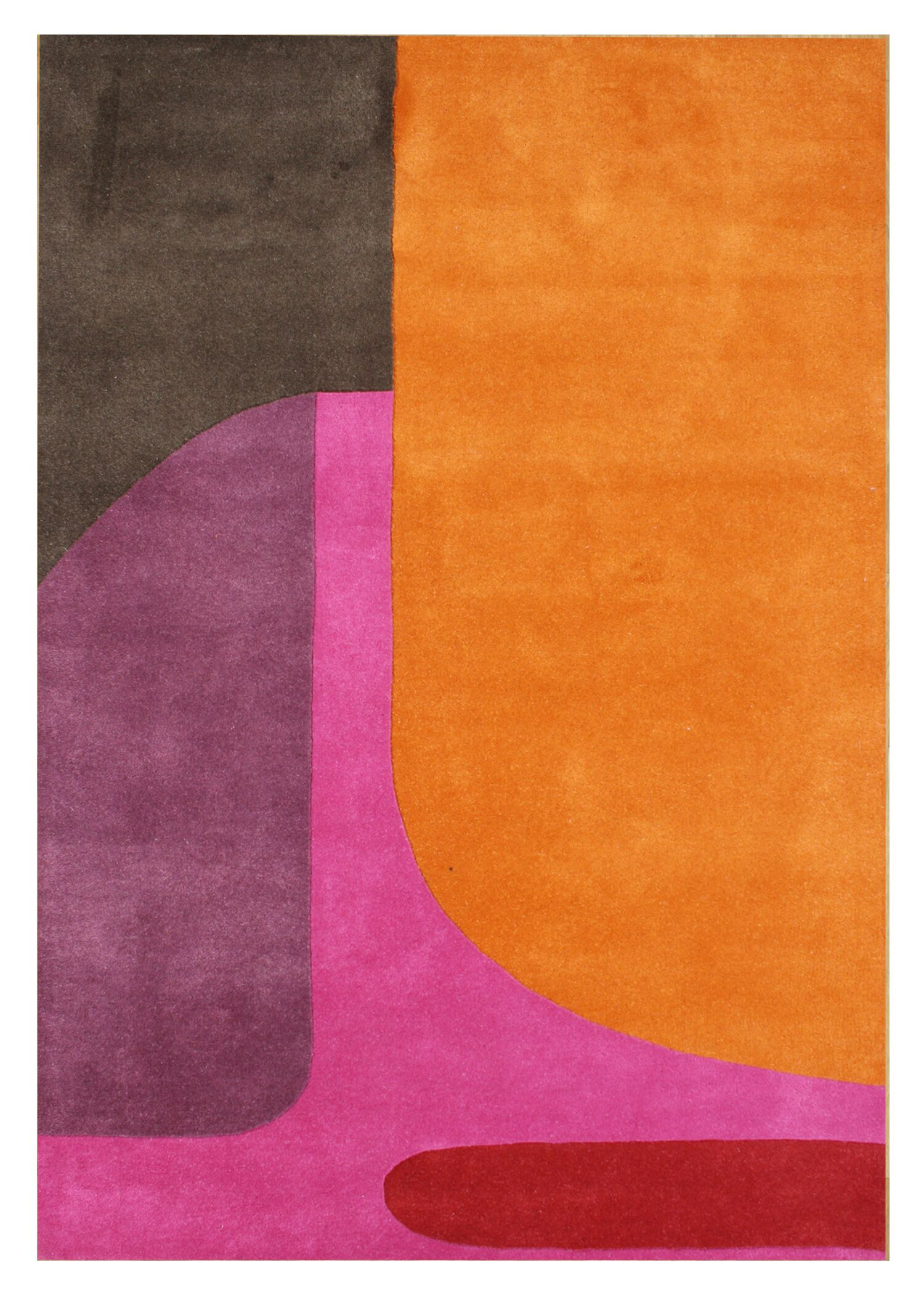 De Niza Hand-Tufted Flame Orange Area Rug Rug Size: 8' x 10'
