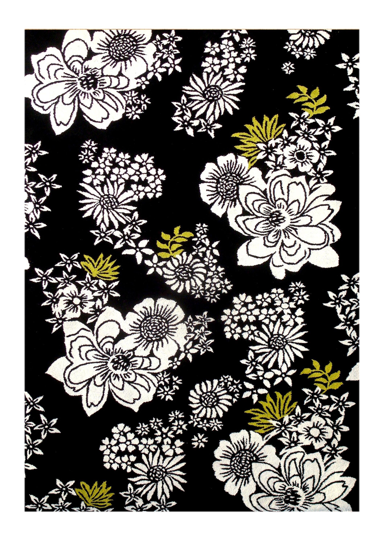 Nunez Hand-Tufted Black Area Rug Rug Size: 5' x 8'