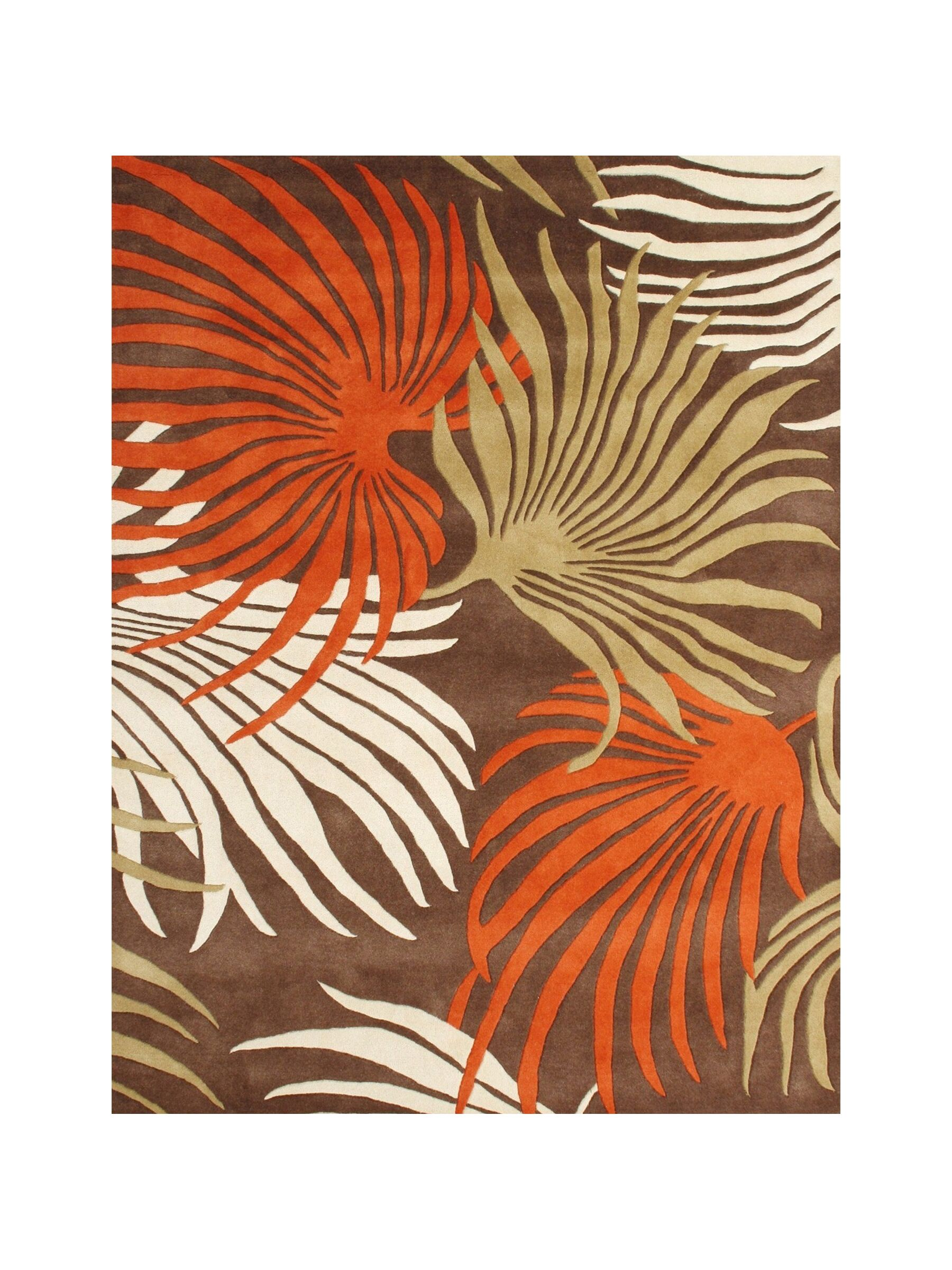 Eriksson Hand-Tufted Coca Brown Area Rug Rug Size: 8' x 10'