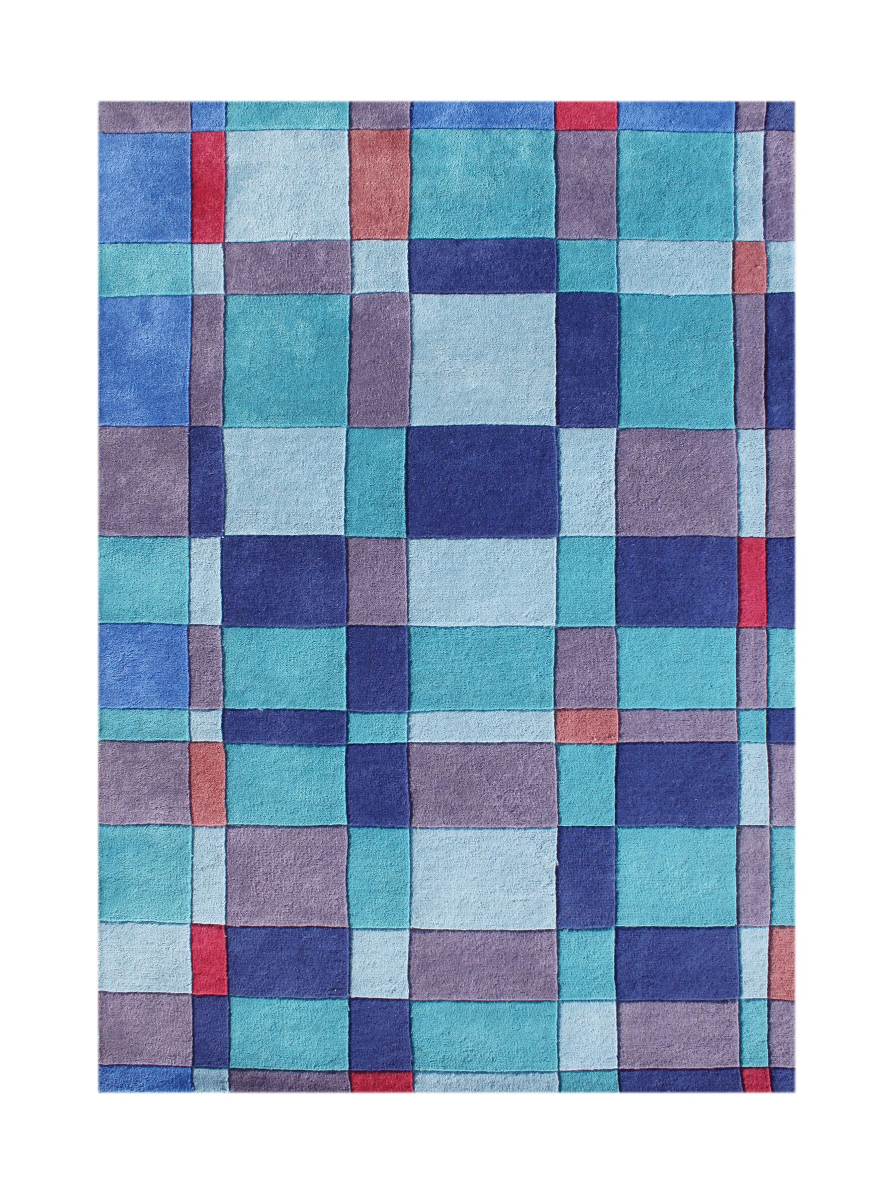 Heriolf Hand-Tufted French Blue Area Rug Rug Size: 8' x 10'
