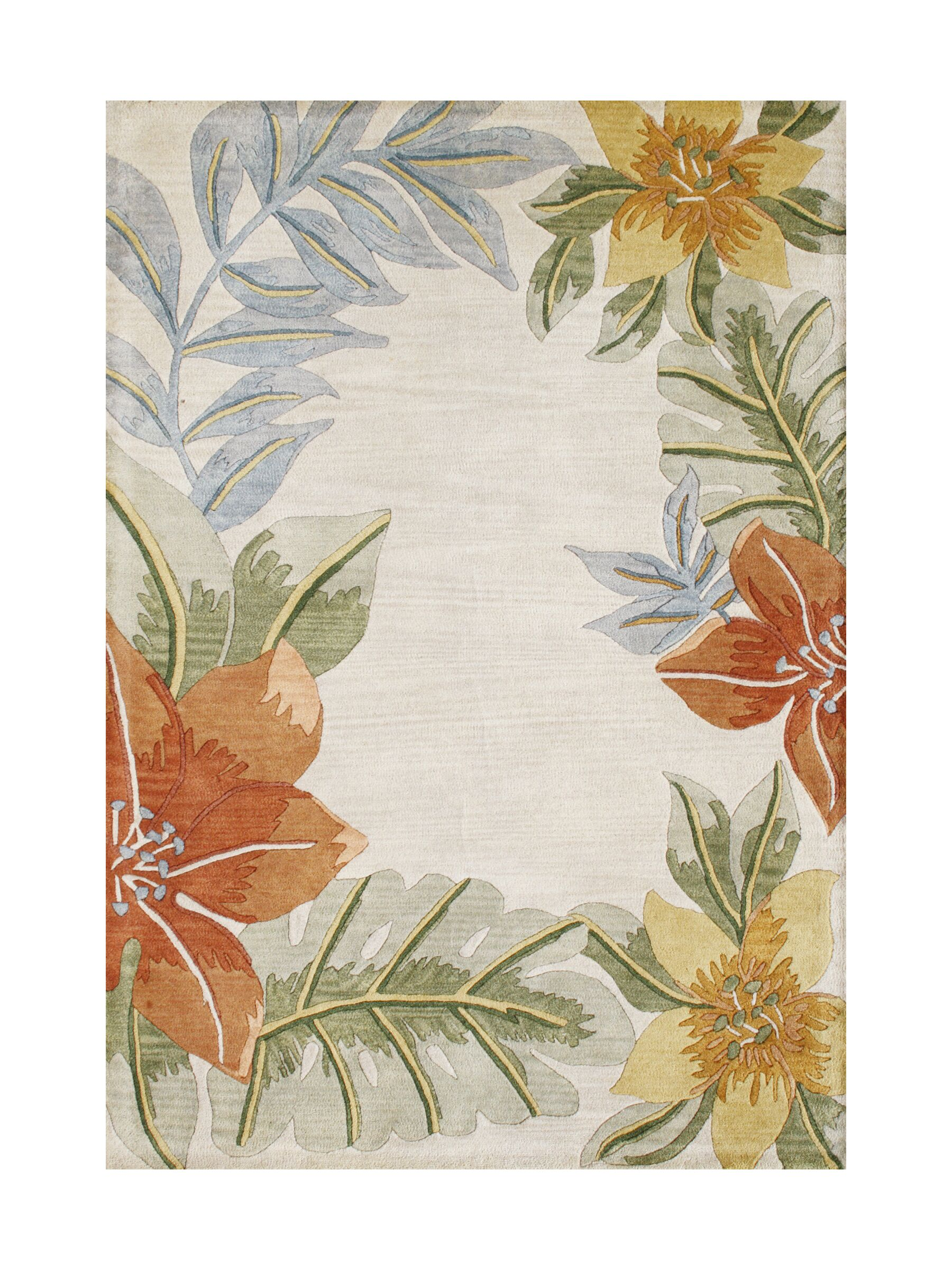Peary Hand-Tufted Light Gray Area Rug Rug Size: 8' x 10'