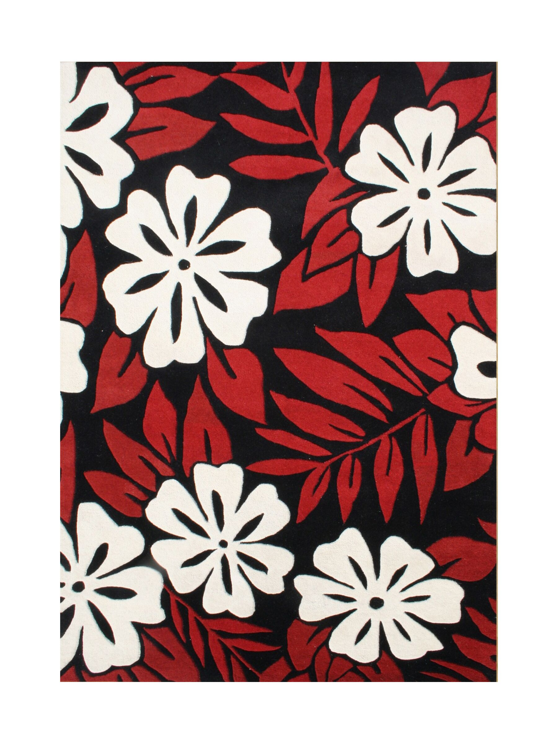 Alonzo Hand-Tufted Poppy Red Area Rug Rug Size: 8' x 10'