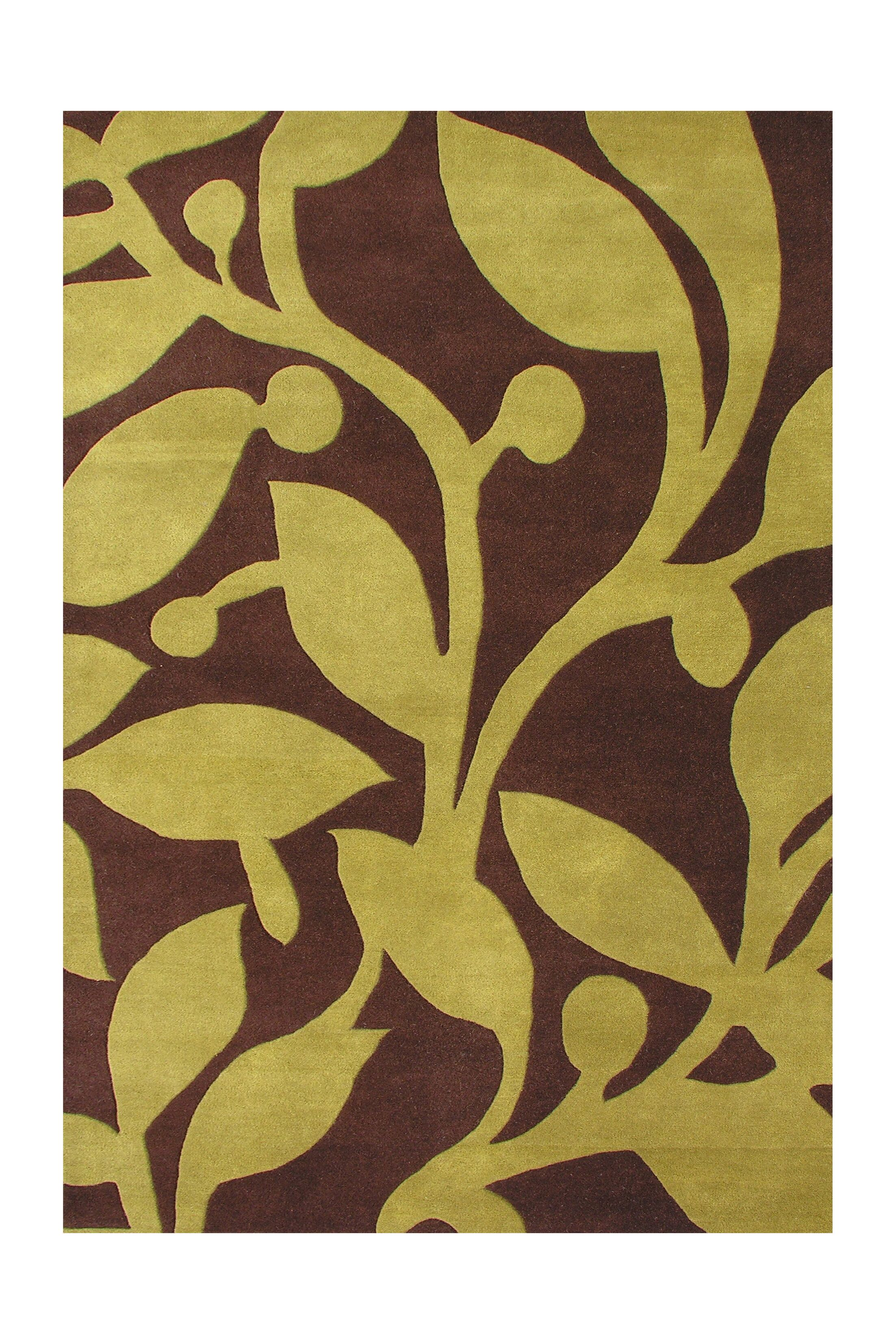 Sacajawea Hand-Tufted Brown Area Rug Rug Size: 8' x 10'
