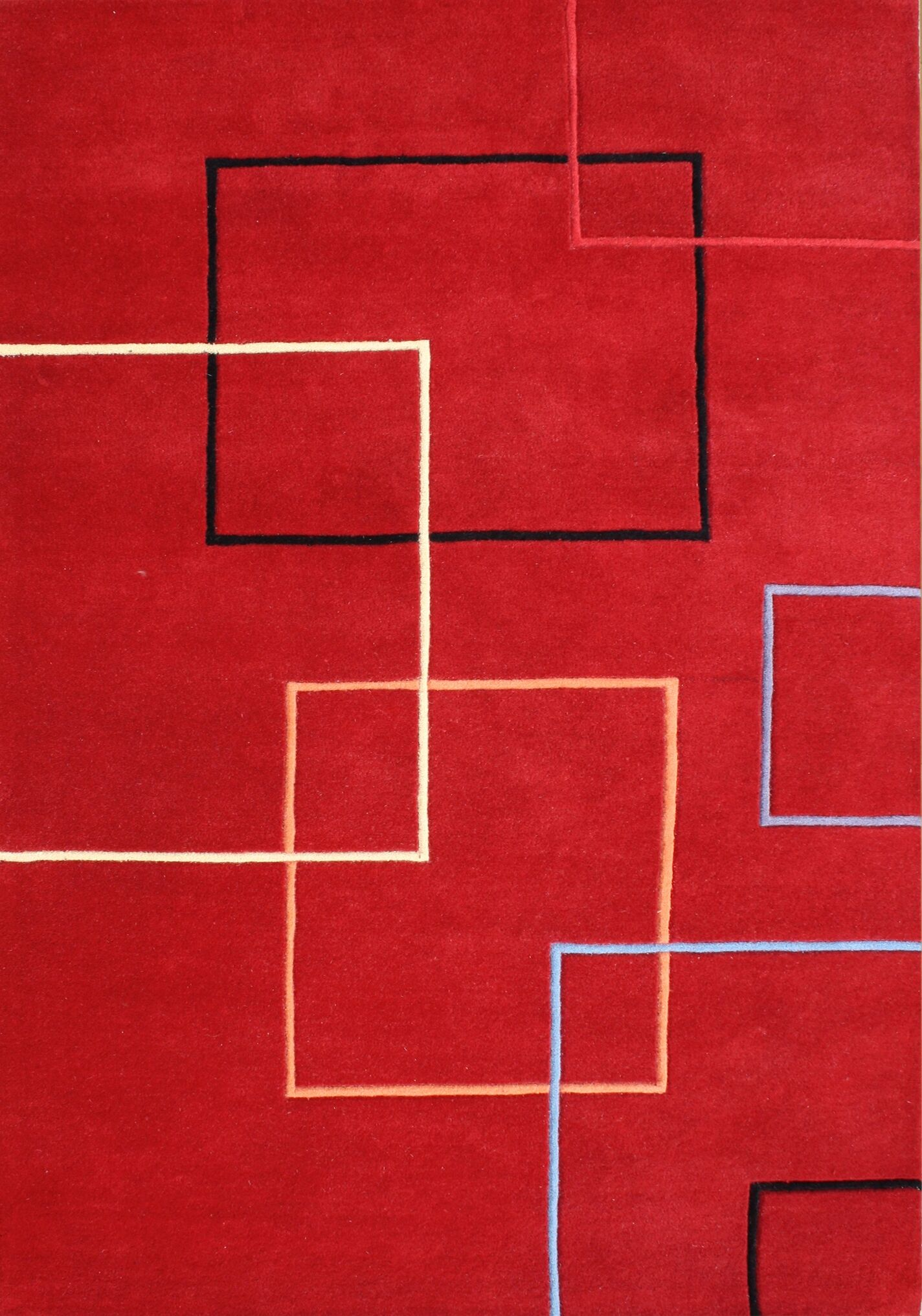 Verrazzano Hand-Tufted Red Area Rug Rug Size: 9' x 12'