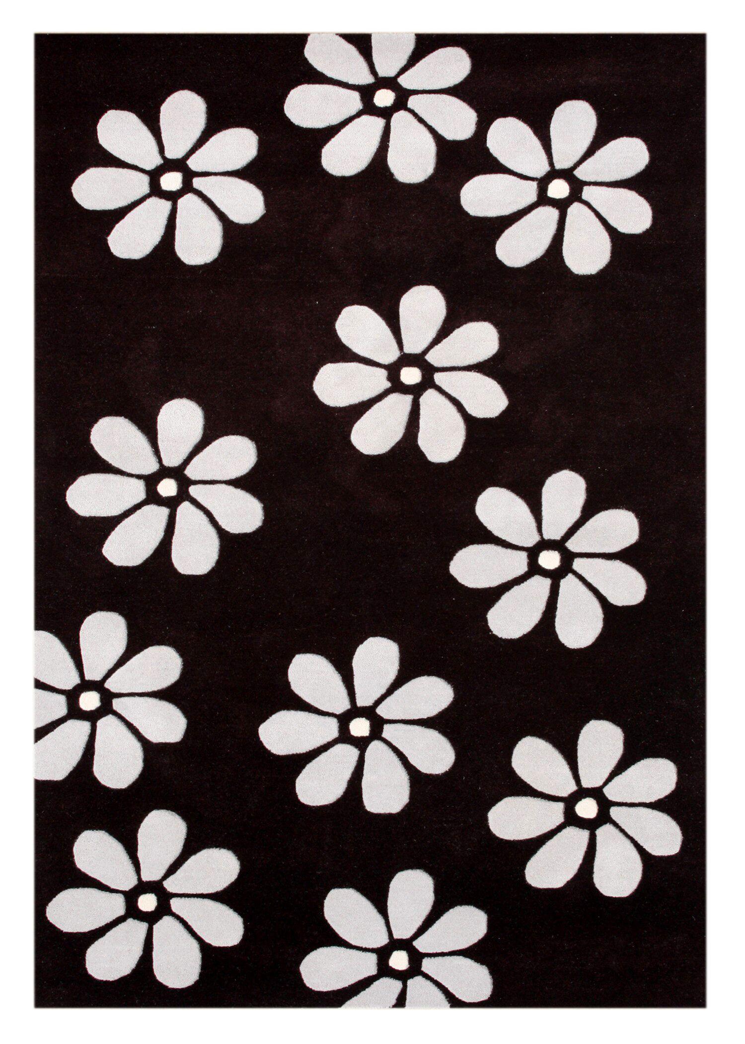 Achhnera Hand-Tufted Black Area Rug Rug Size: 8' x 10'