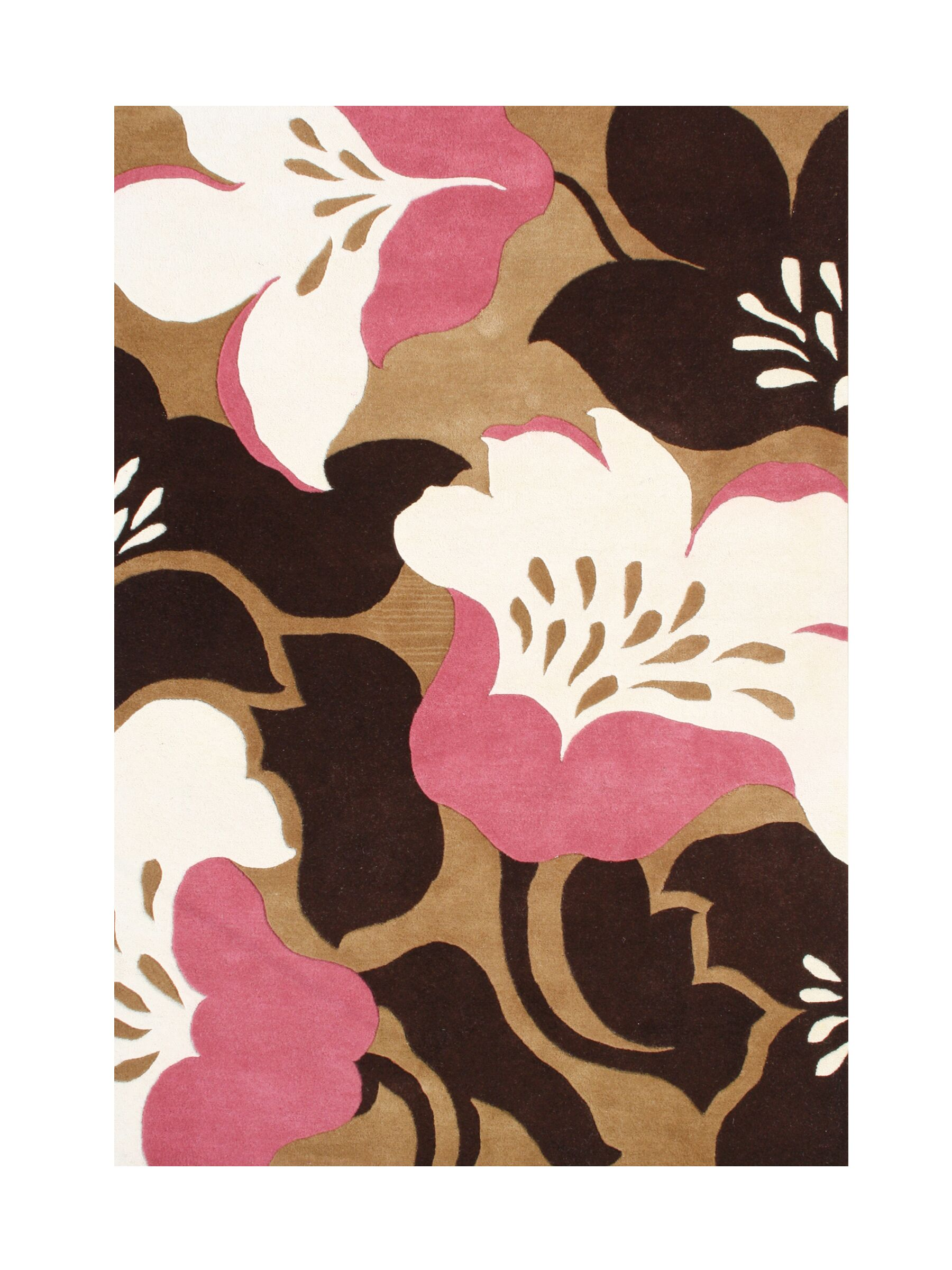 Anjar Hand-Tufted Biscuit Area Rug