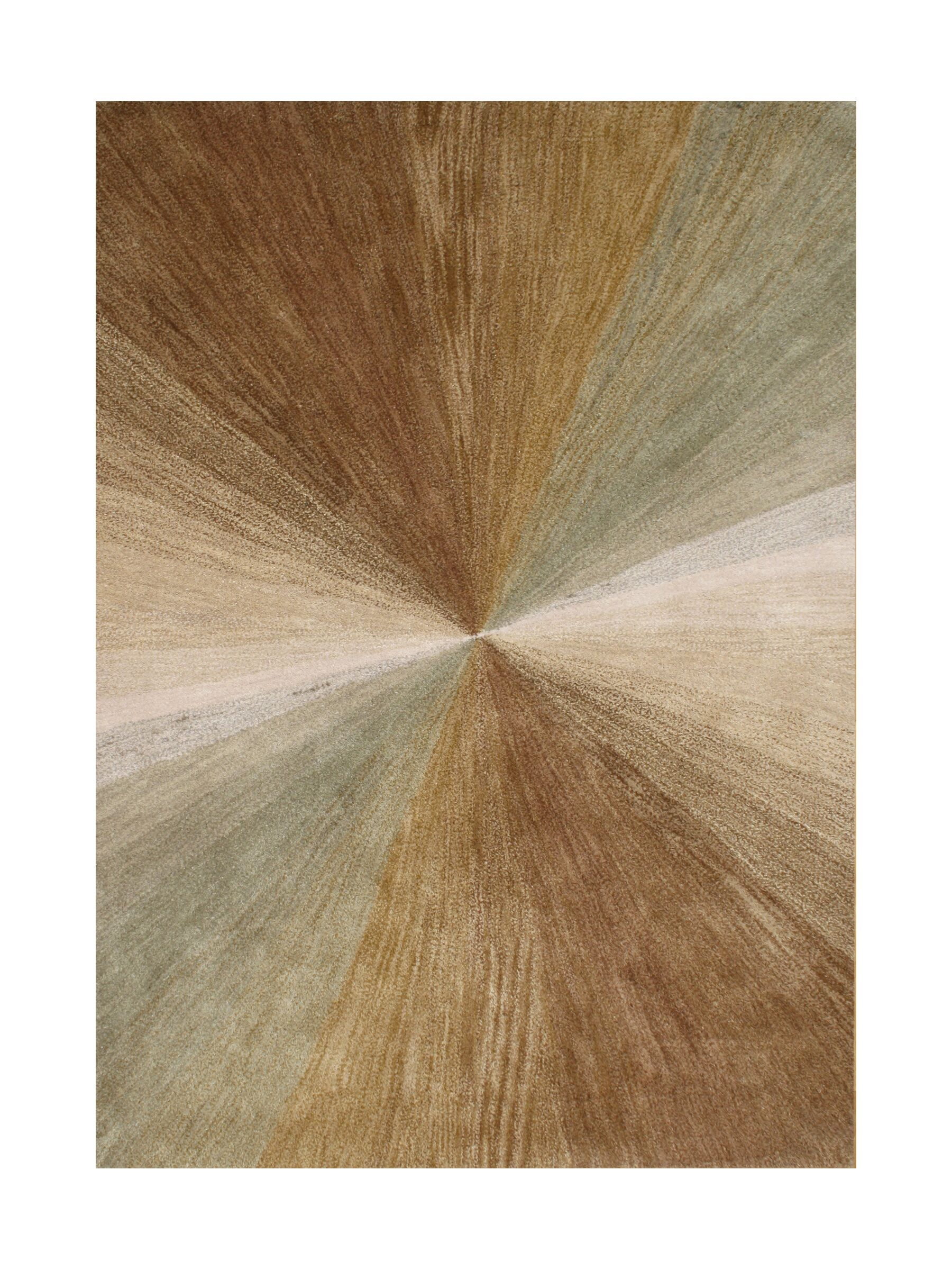 Nagar Hand-Tufted Brown Area Rug Rug Size: Rectangle 8' x 10'