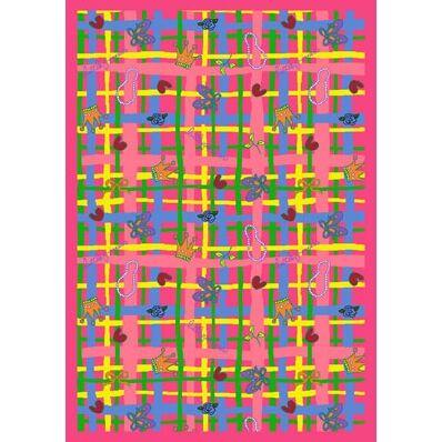 Pink Area Rug Rug Size: 7'8
