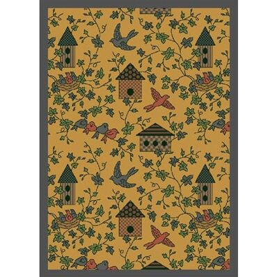 Gold Area Rug Rug Size: 3'10
