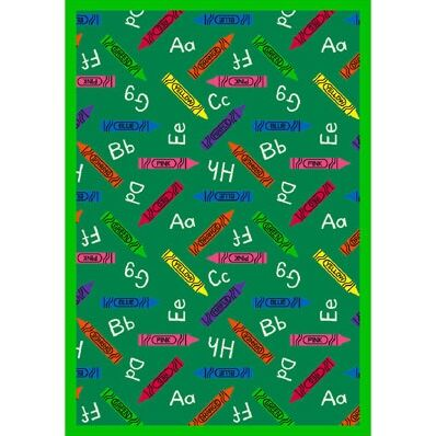 Green Area Rug Rug Size: Rectangle 7'8