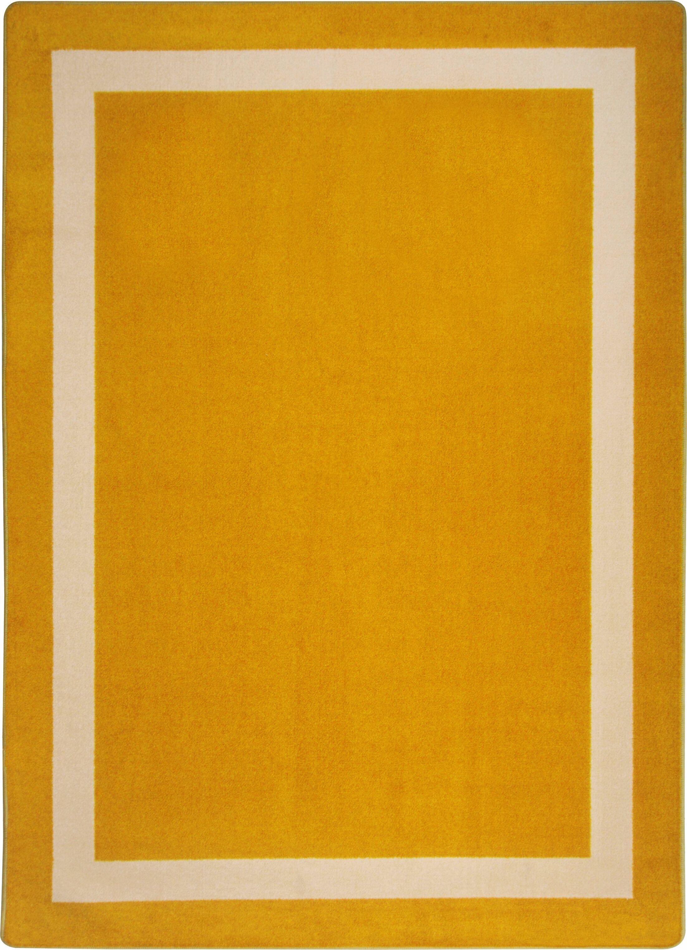 Orange Area Rug Rug Size: Rectangle 3'10