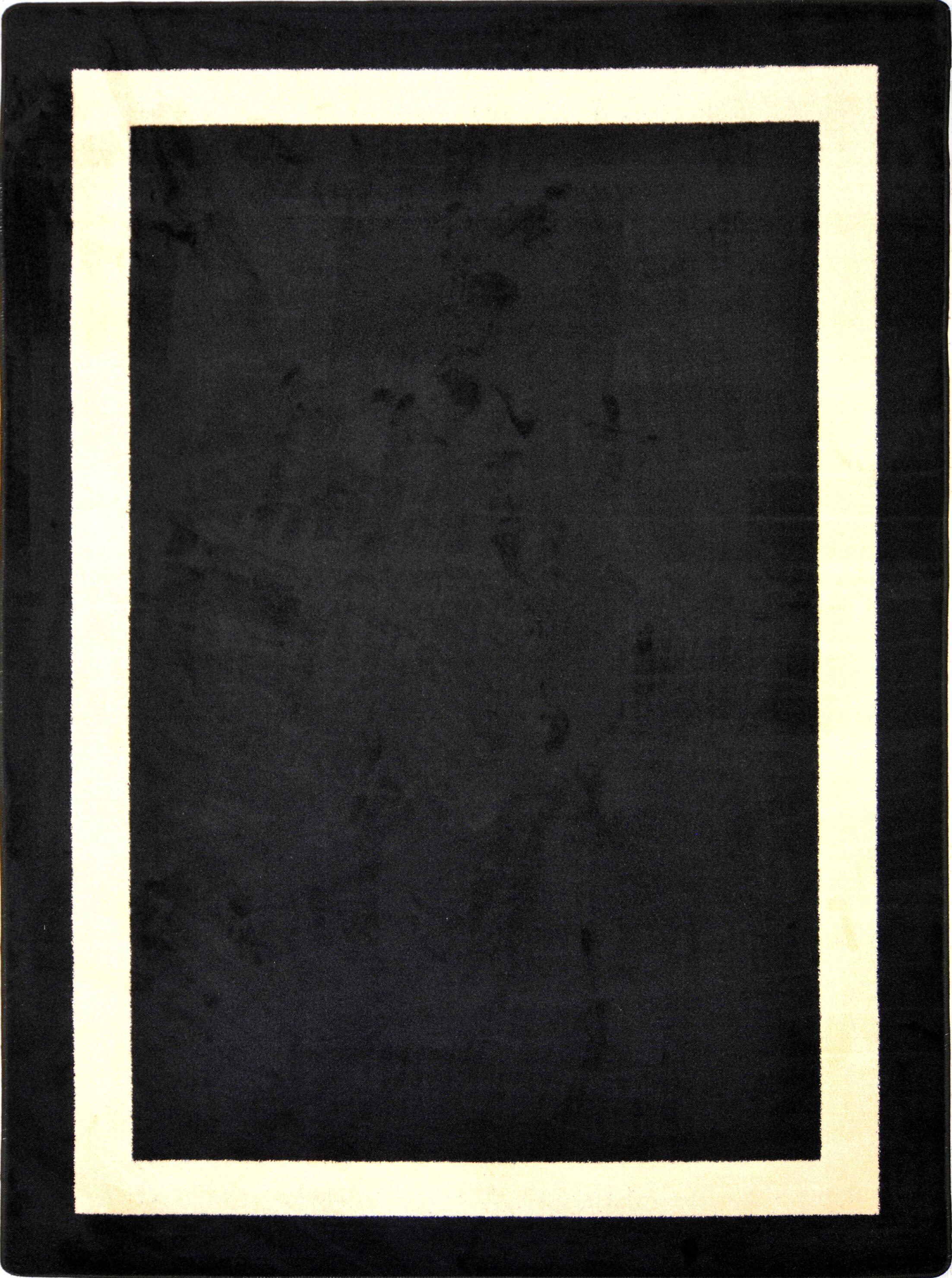 Black Area Rug Rug Size: Oval 7'8