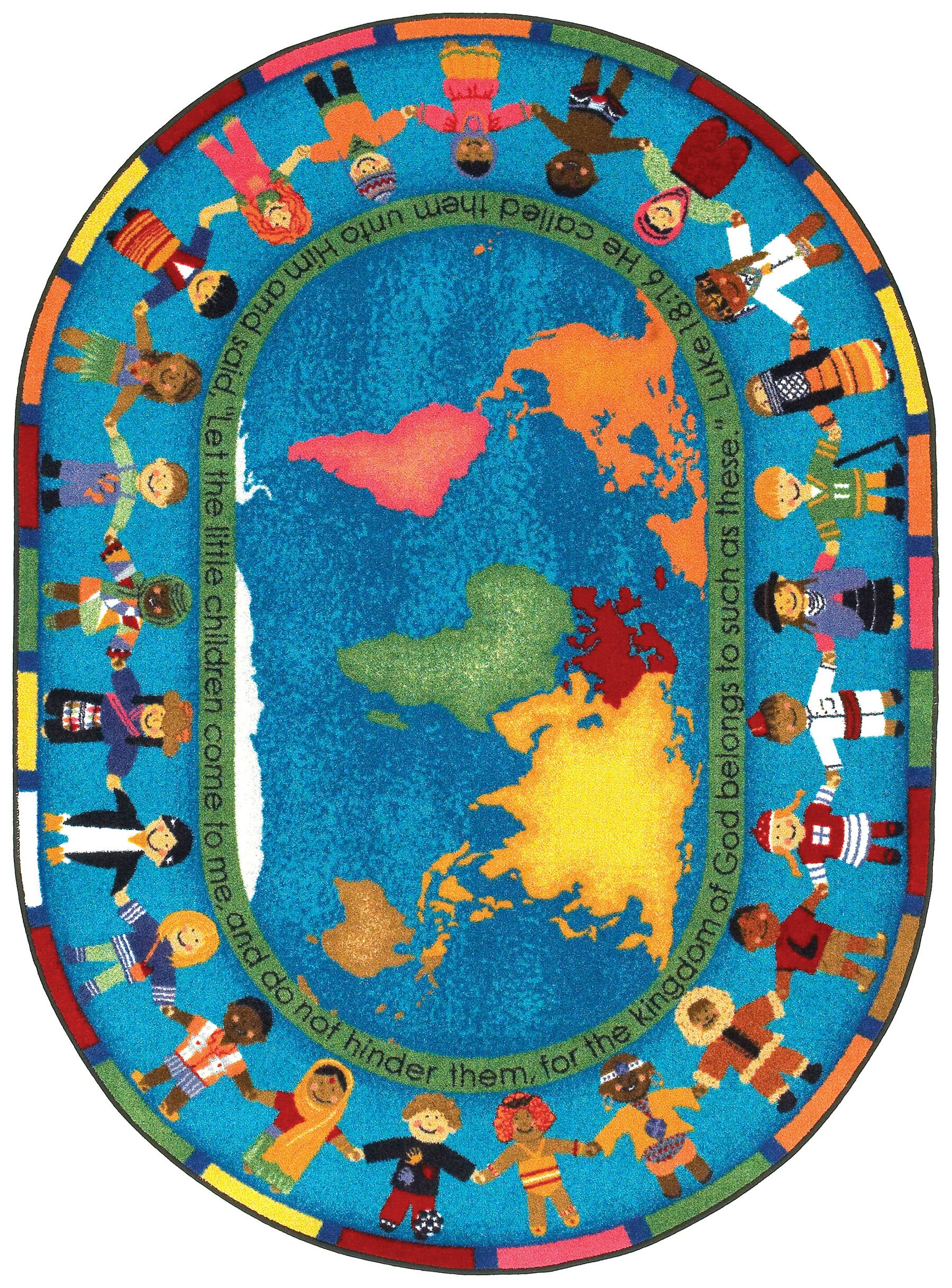 Blue/Yellow Area Rug Rug Size: Oval 7'8