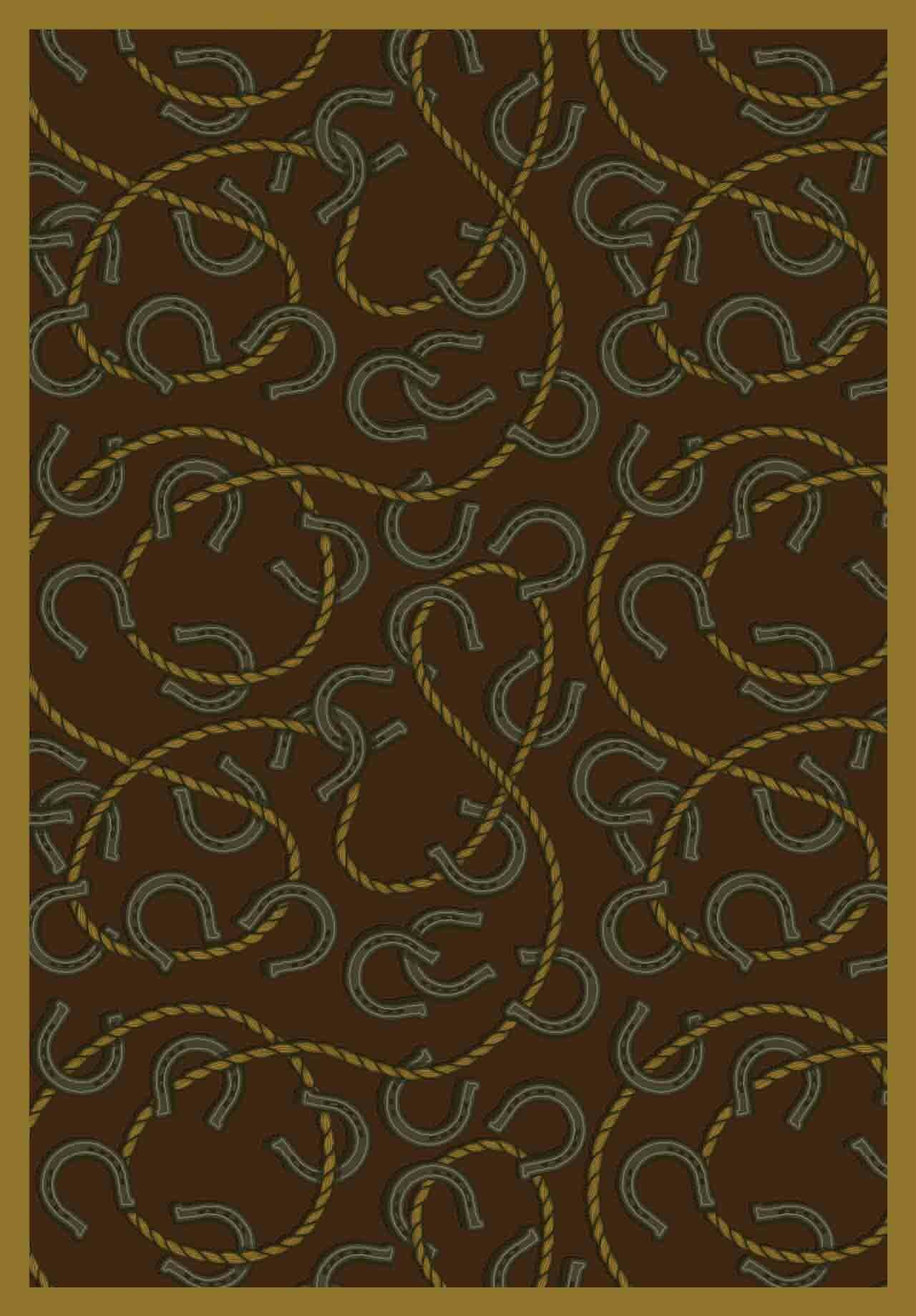 Brown Area Rug Rug Size: 5'4
