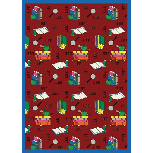 Bookworm Spanish Red Area Rug Rug Size: Rectangle 7'8