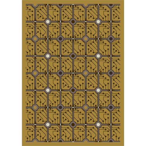 Yellow Electrode Area Rug Rug Size: 3'10