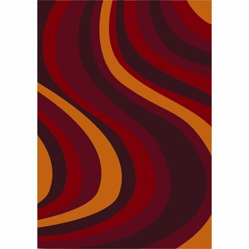 Red Area Rug Rug Size: 7'8