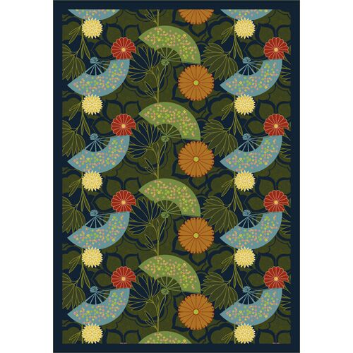 Pacific Rim Blue/Green Area Rug Rug Size: 5'4