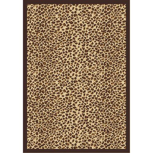 Animal print Area Rug Rug Size: 5'4
