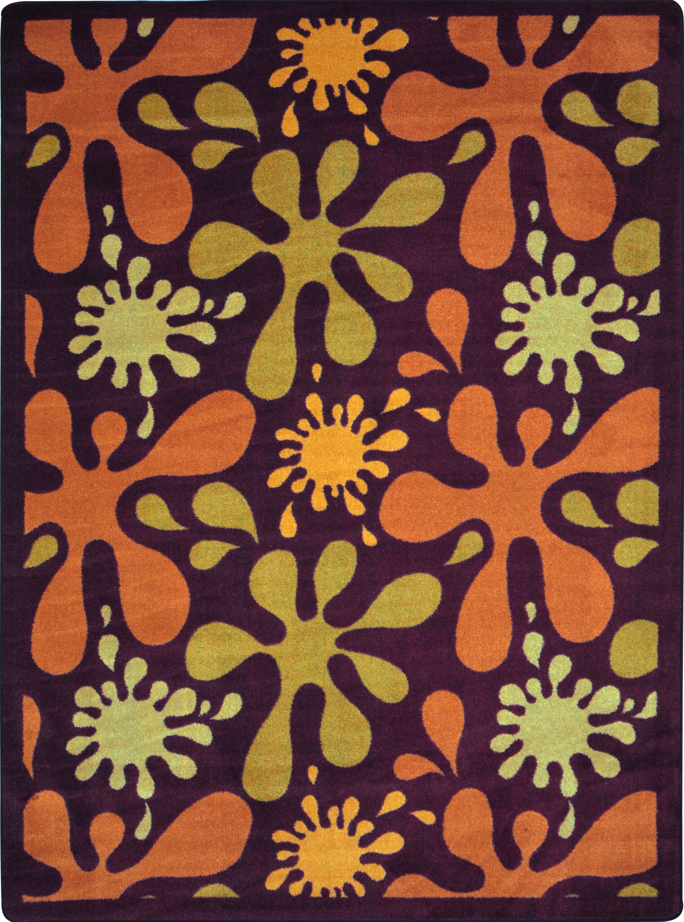 Orange/Yellow Area Rug Rug Size: 5'4