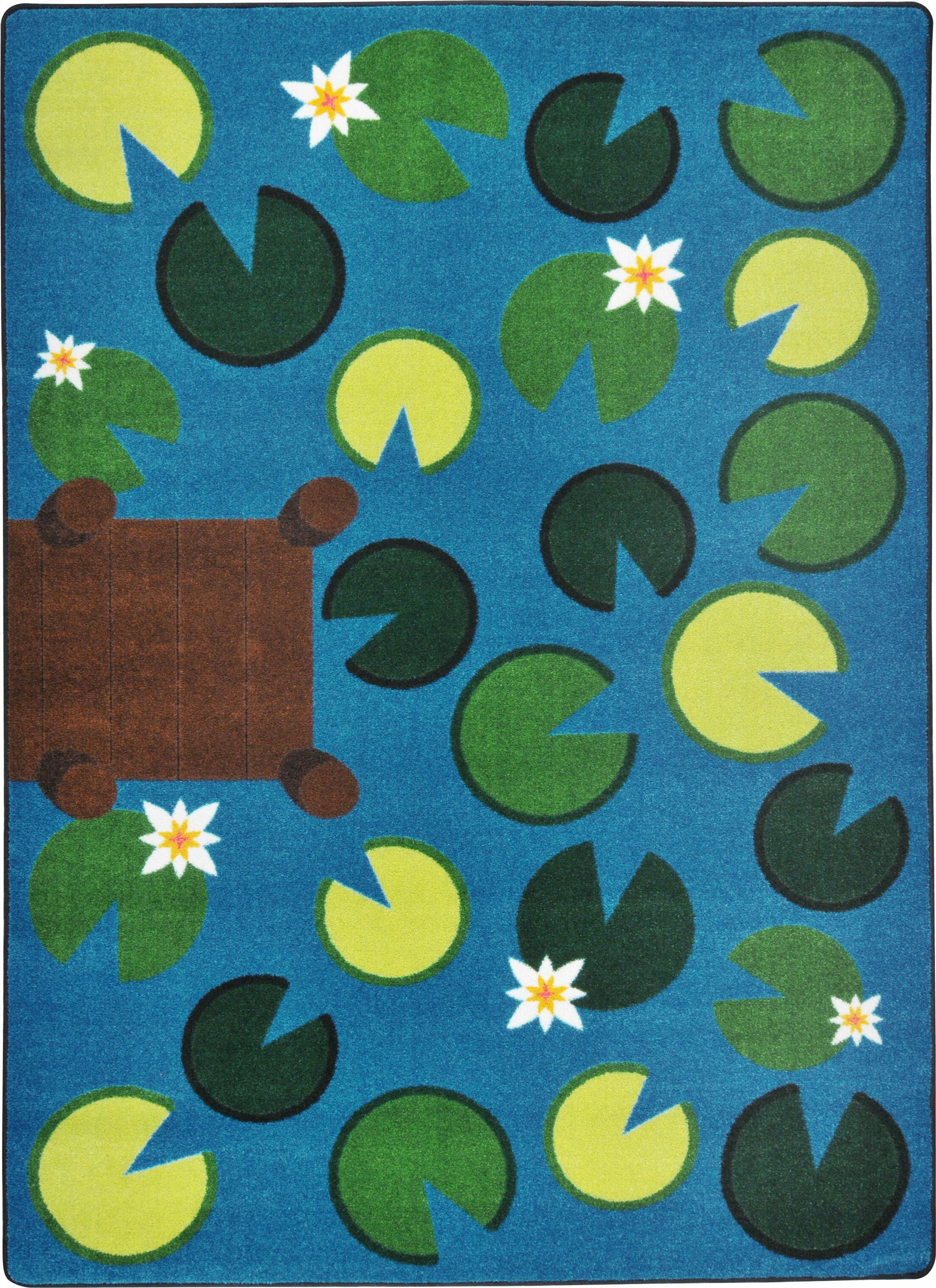 Hand-Tufled Green/Blue Area Rug Rug Size: 7'8