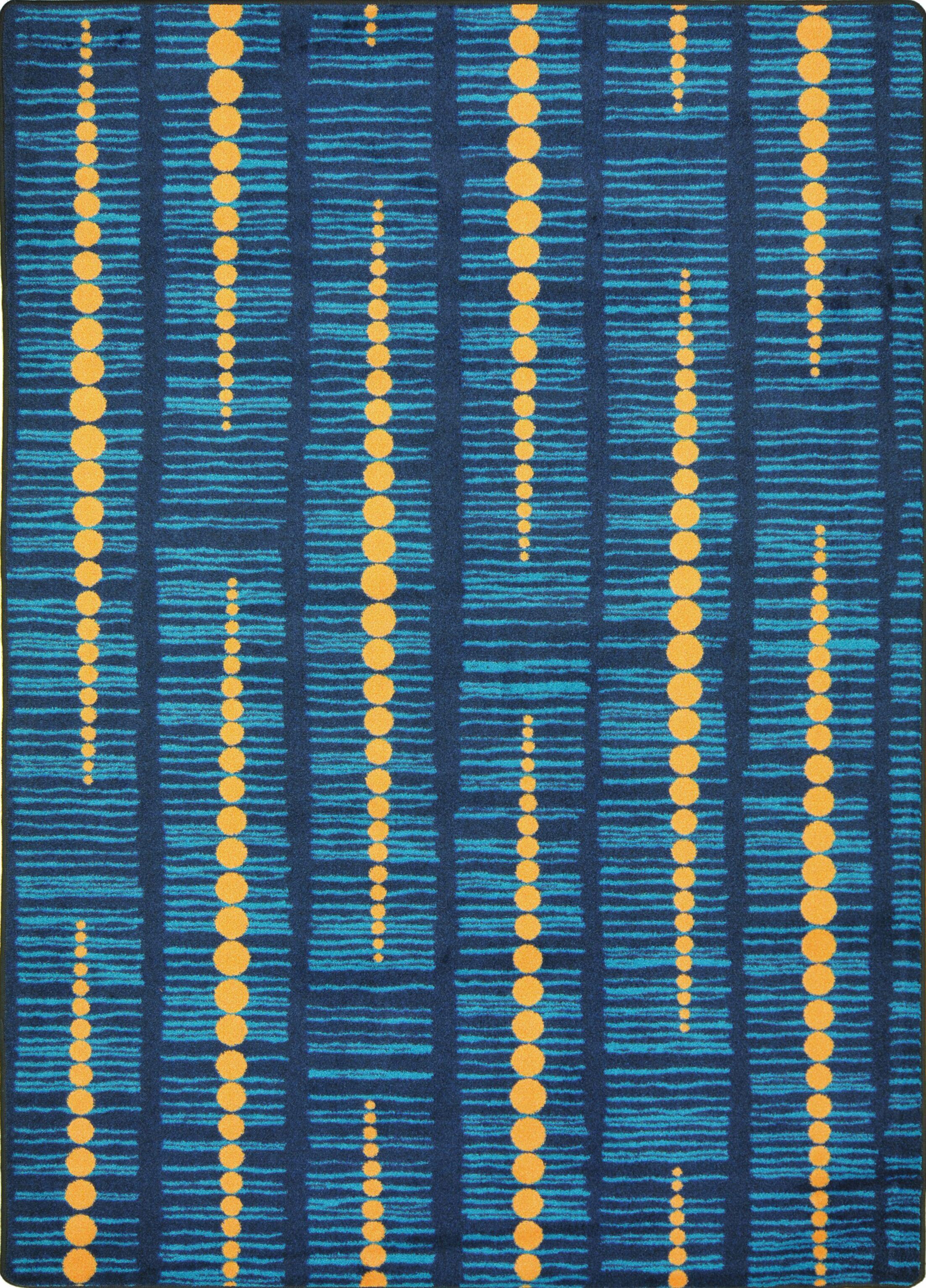 Hand-Tufled Blue Area Rug Rug Size: 7'8