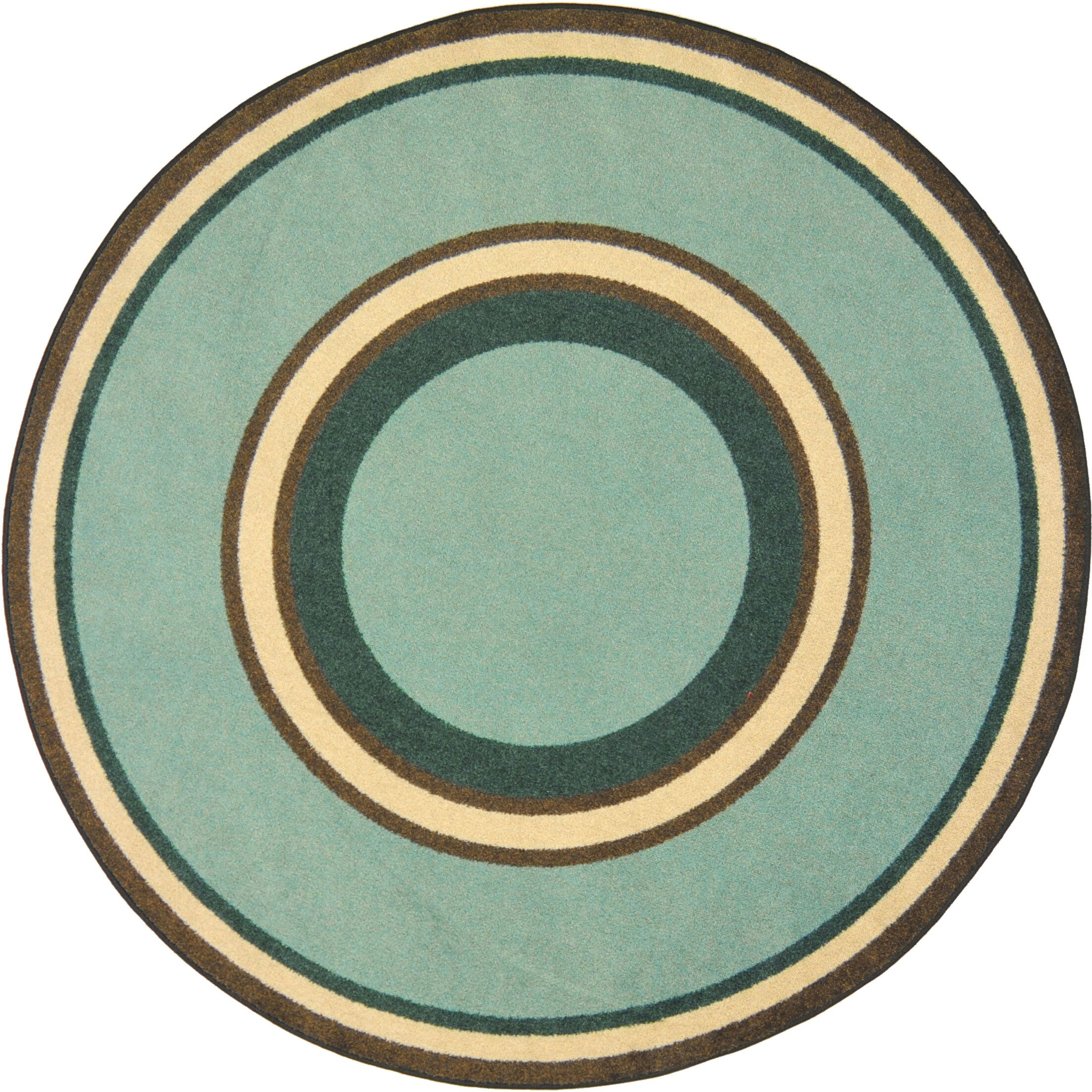 Hand-Tufled Green Area Rug Rug Size: Oval 7'8